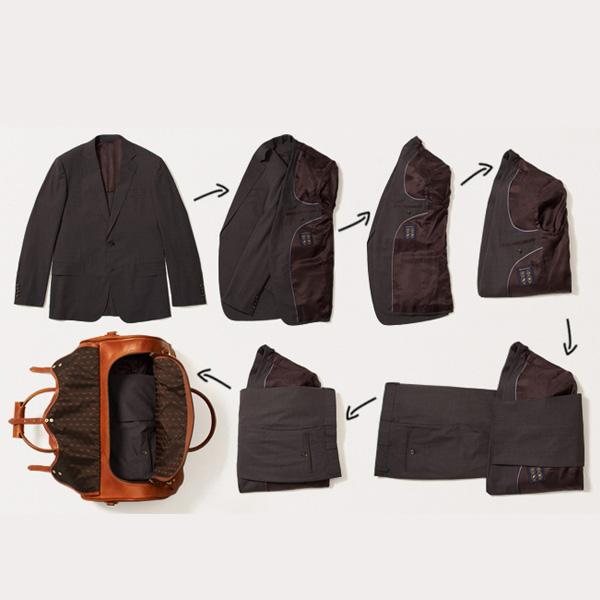 Ceketleri pantolonları saracak şekilde katlayın.