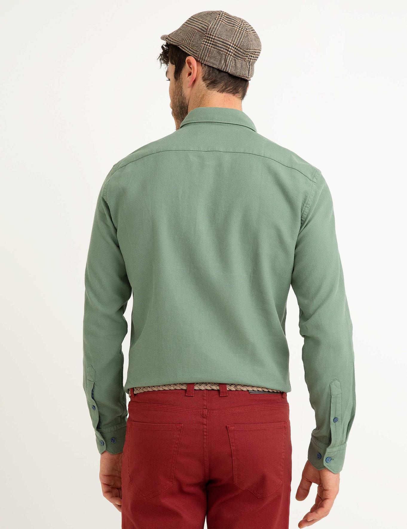 Slim Yeşil Gömlek