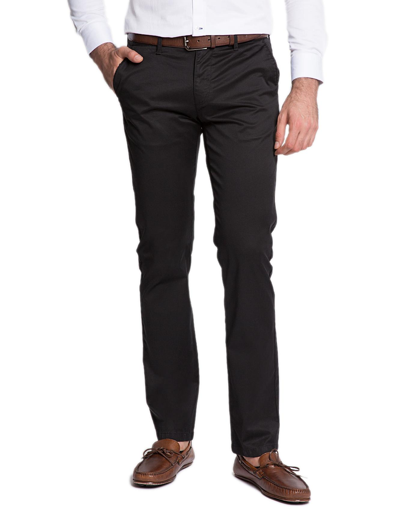 Siyah Regular Kanvas Pantolon