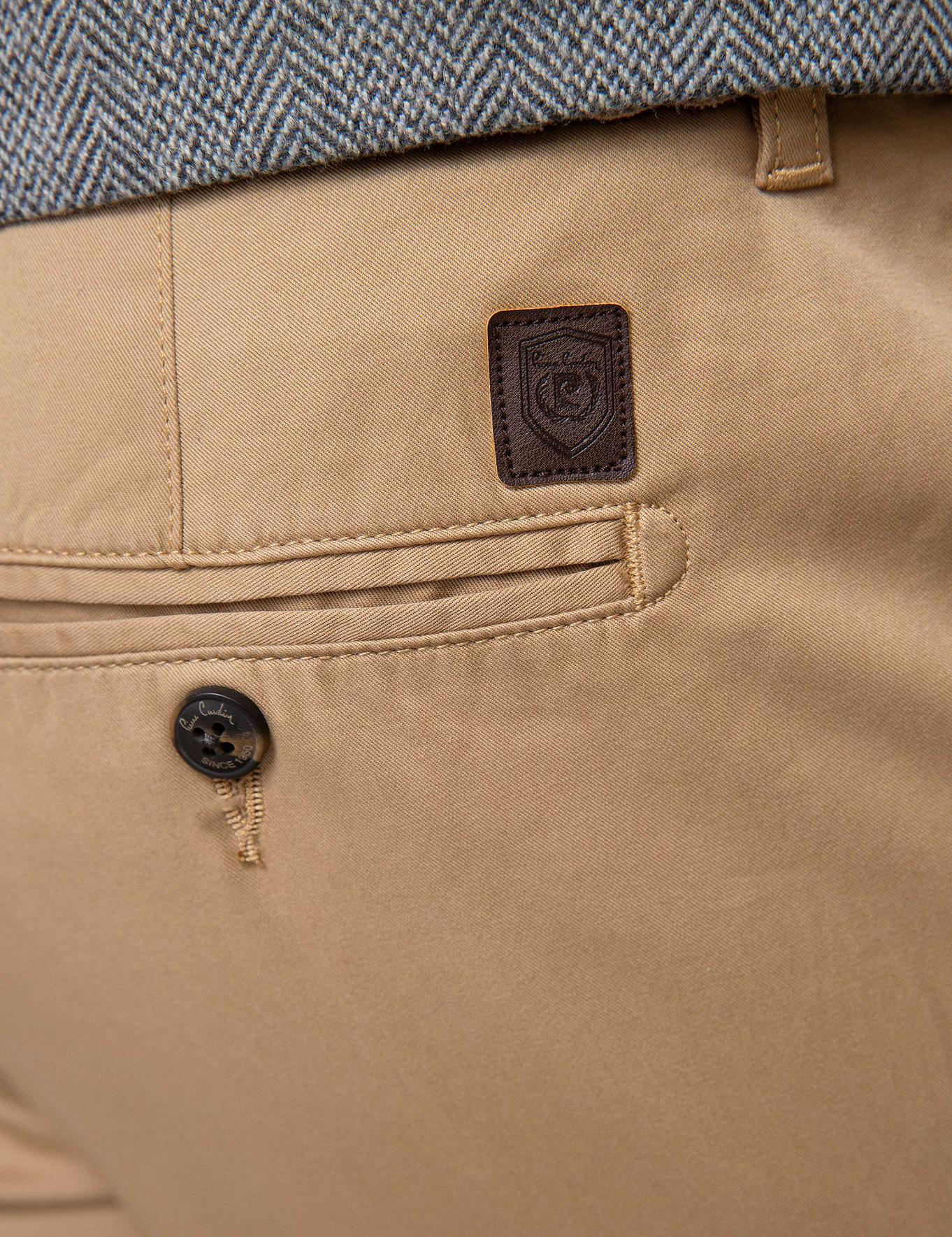 Kahverengi Regular Kanvas Pantolon