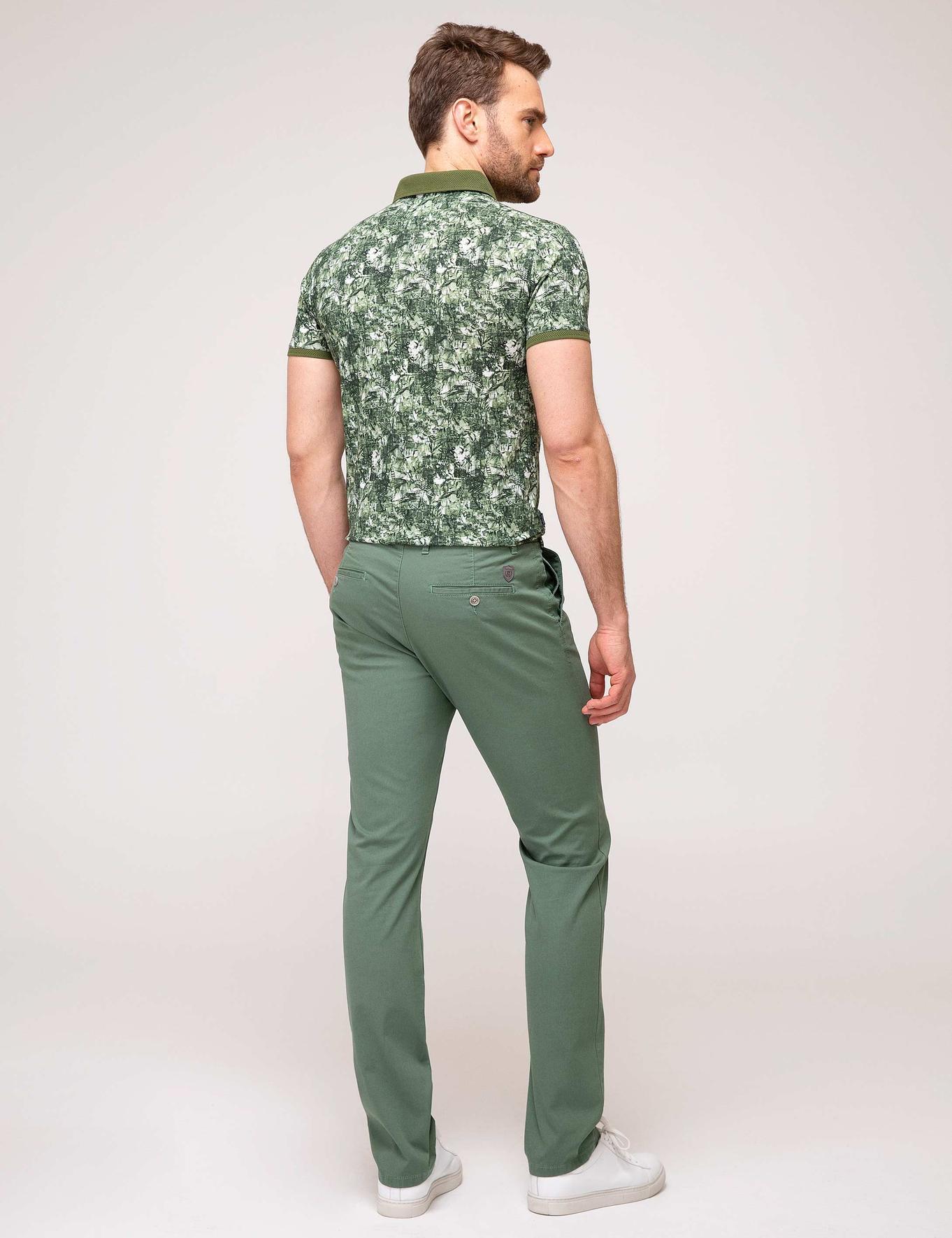 Yeşil Slim Kanvas Pantolon