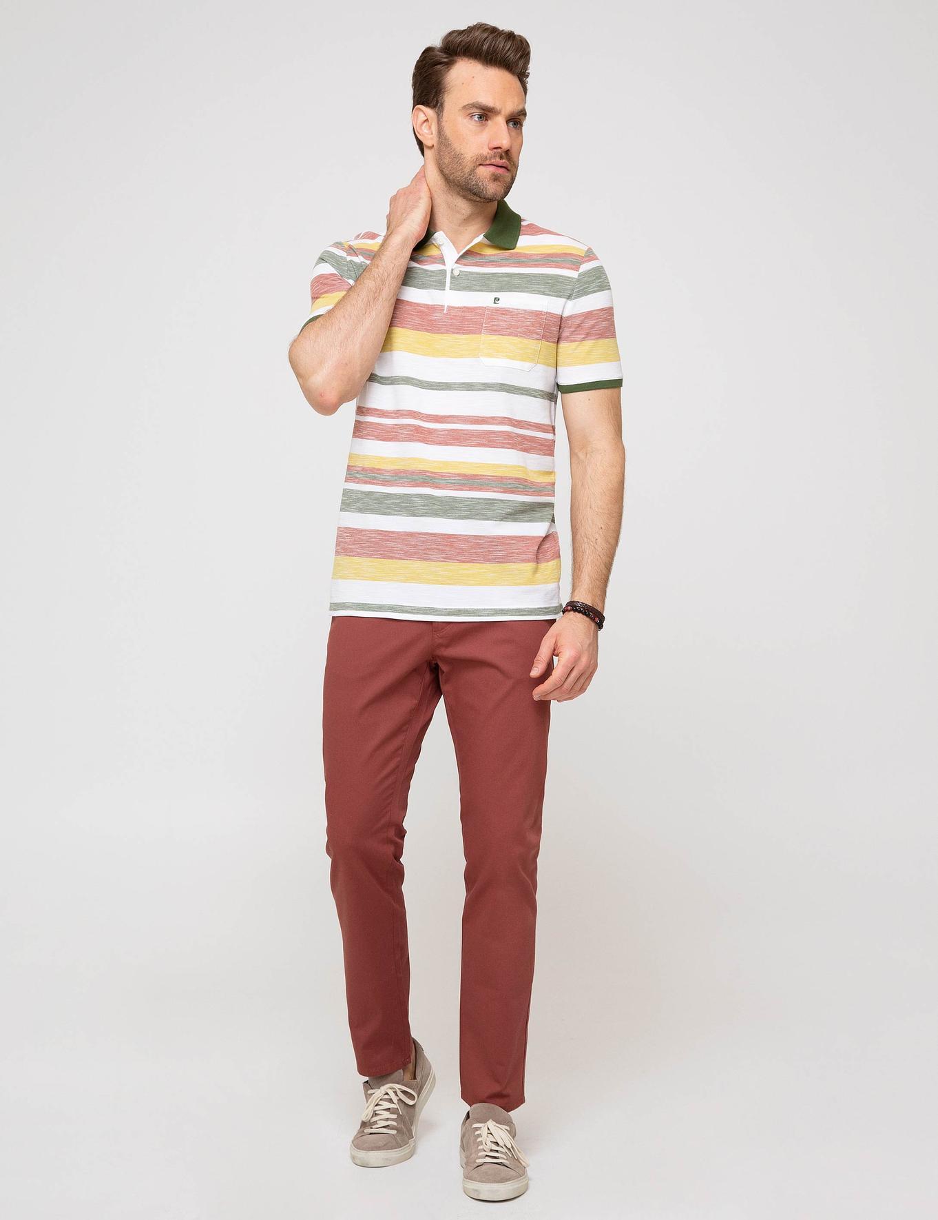 Kırmızı Kanvas Pantolon