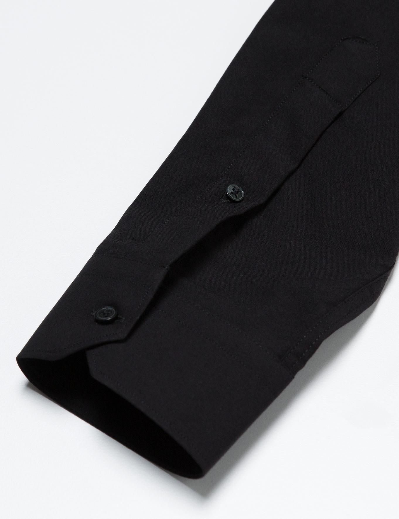 Slim Siyah Gömlek