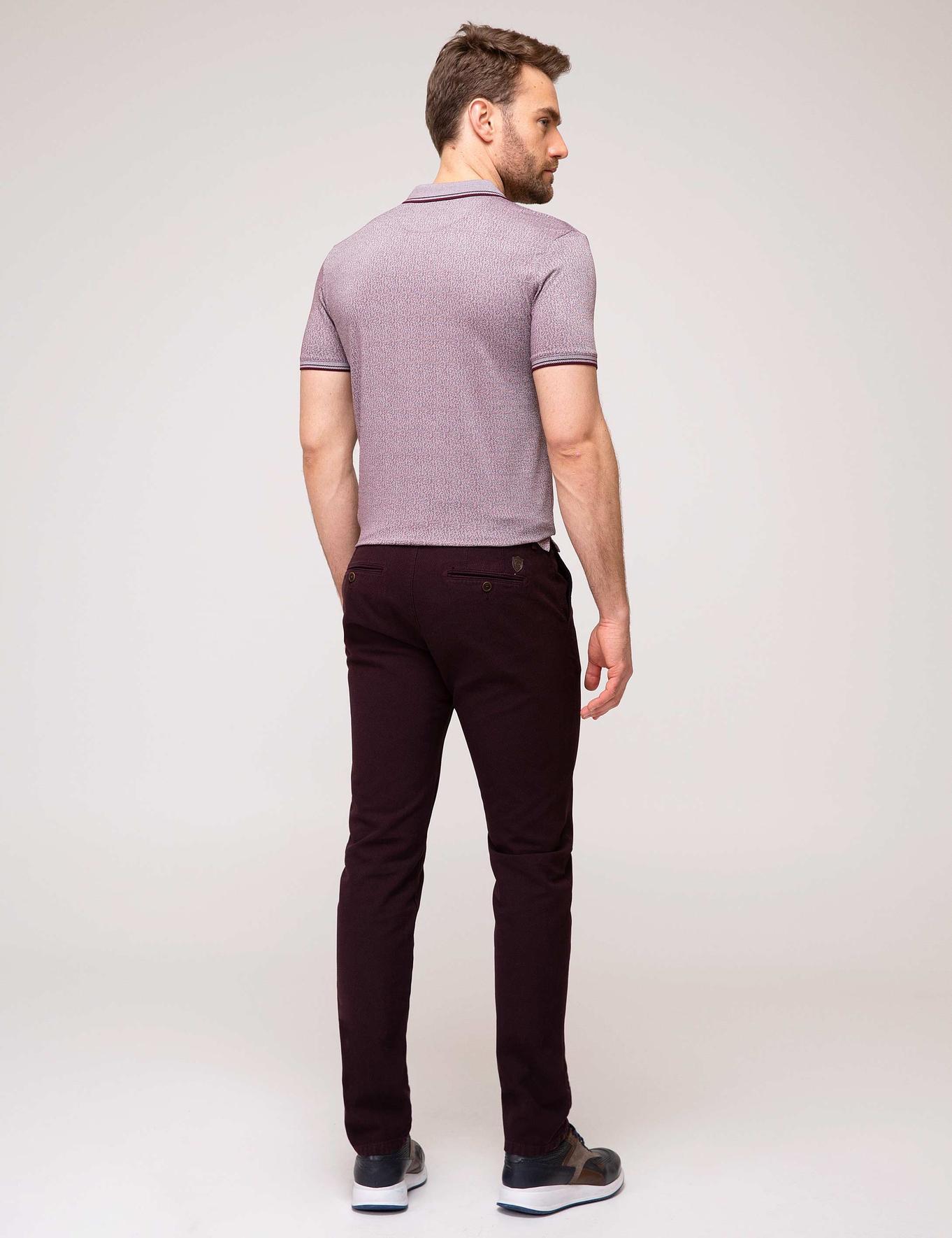 Bordo Slim Fit Chino Pantolon