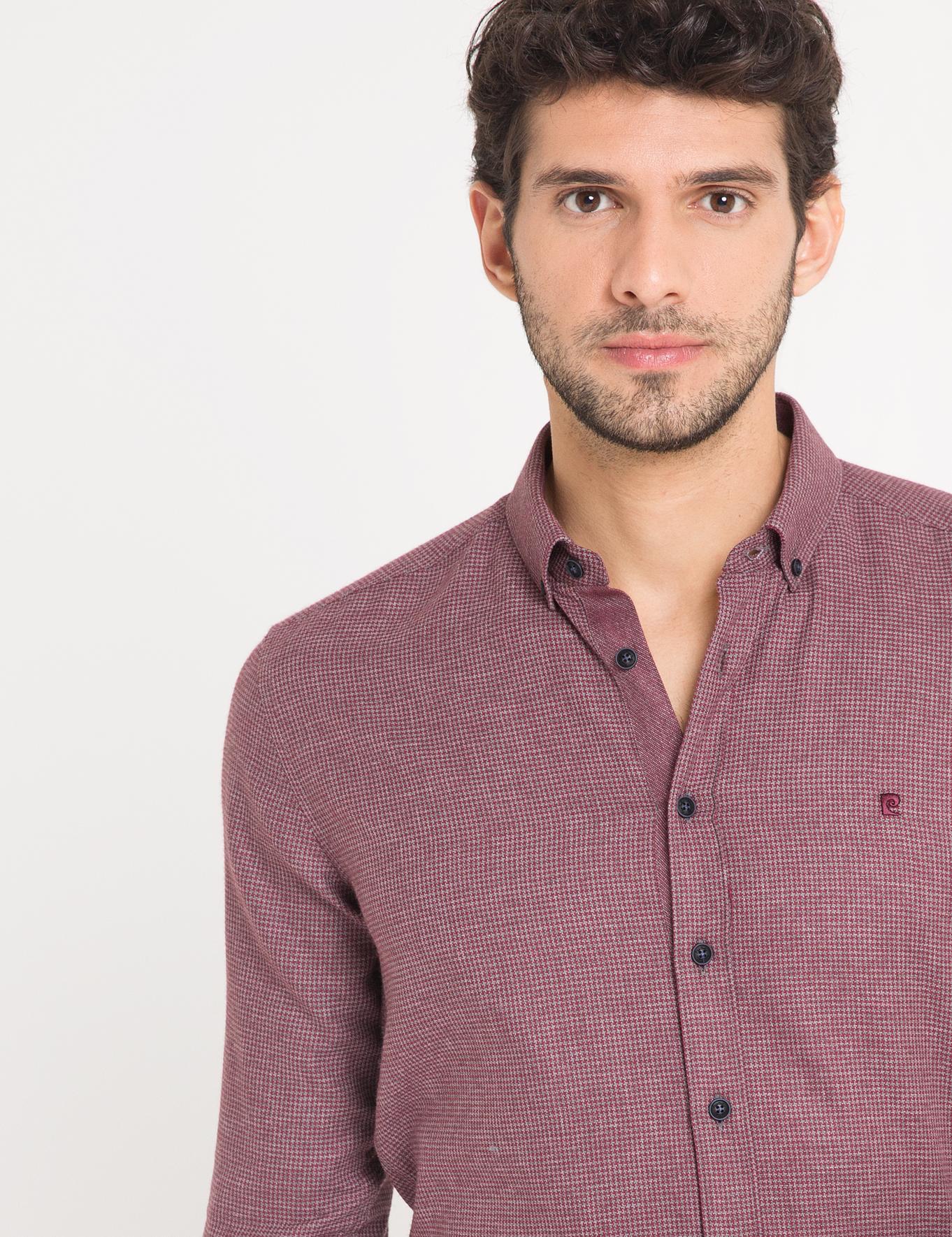 Slim Bordo Gömlek