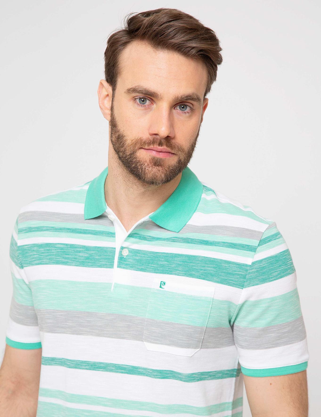 Zümrüt Yeşil Regular Fit Polo Yaka T-Shirt