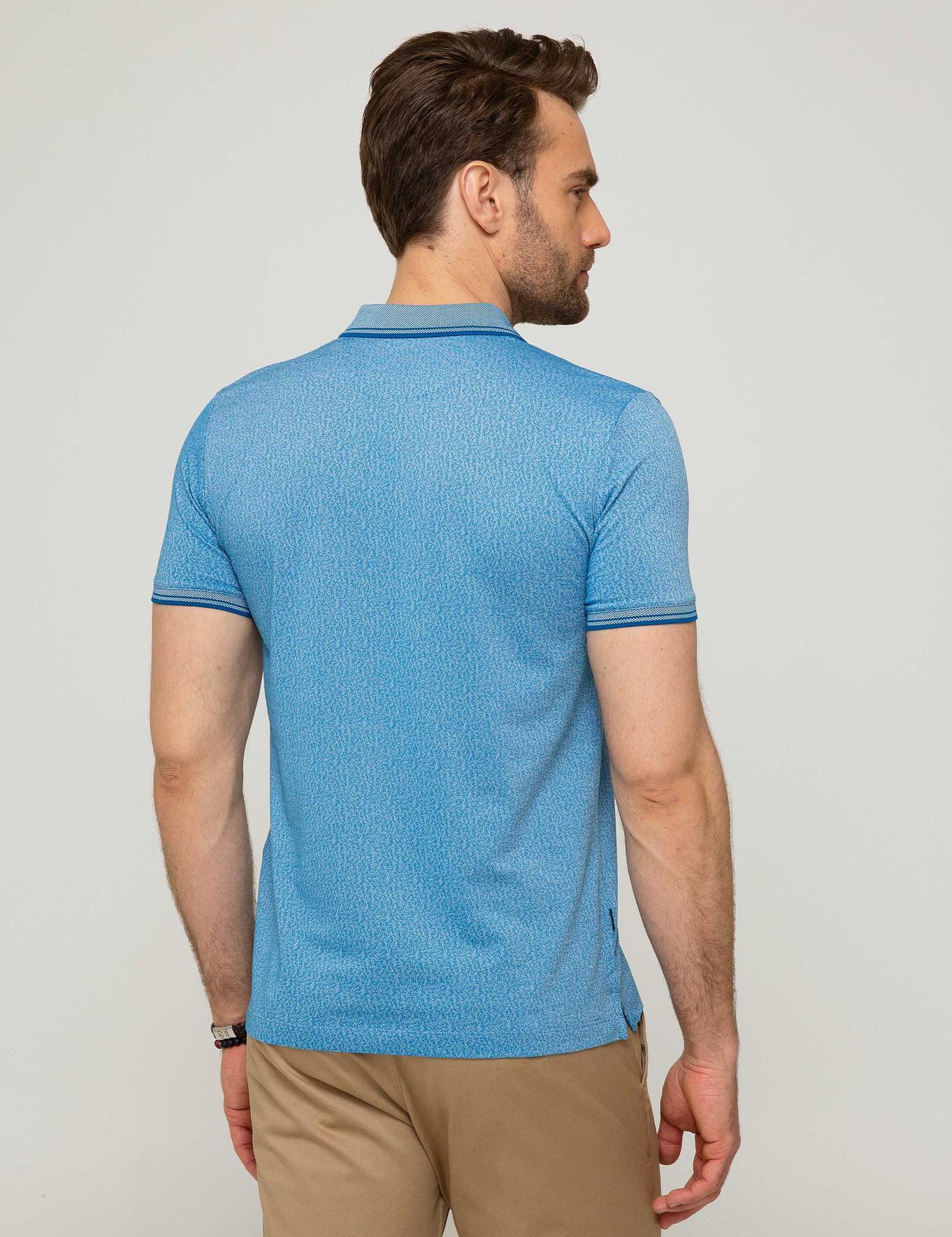 Saks Mavi Slim Fit T-Shirt