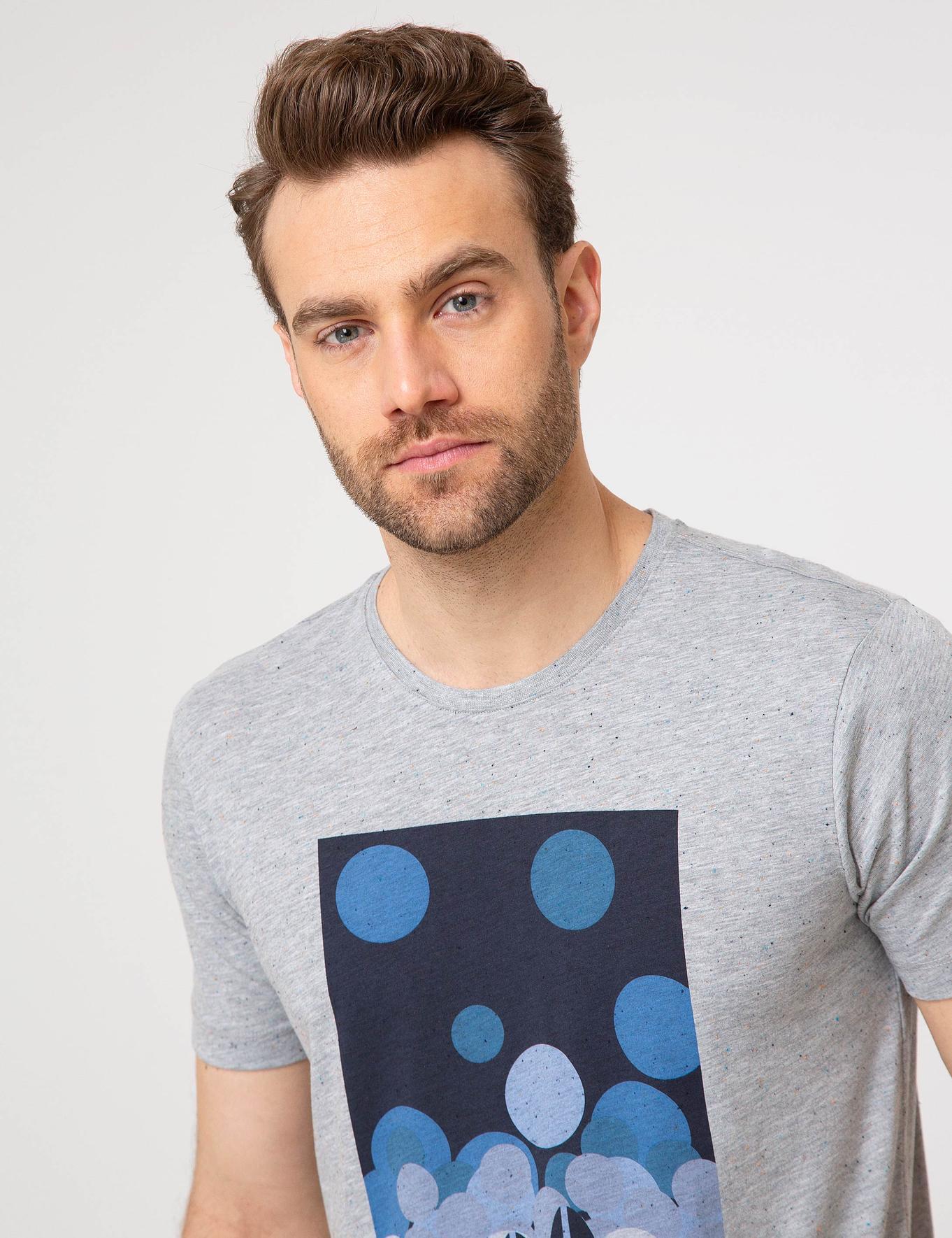 Gri Melanj Slim Fit T-Shirt