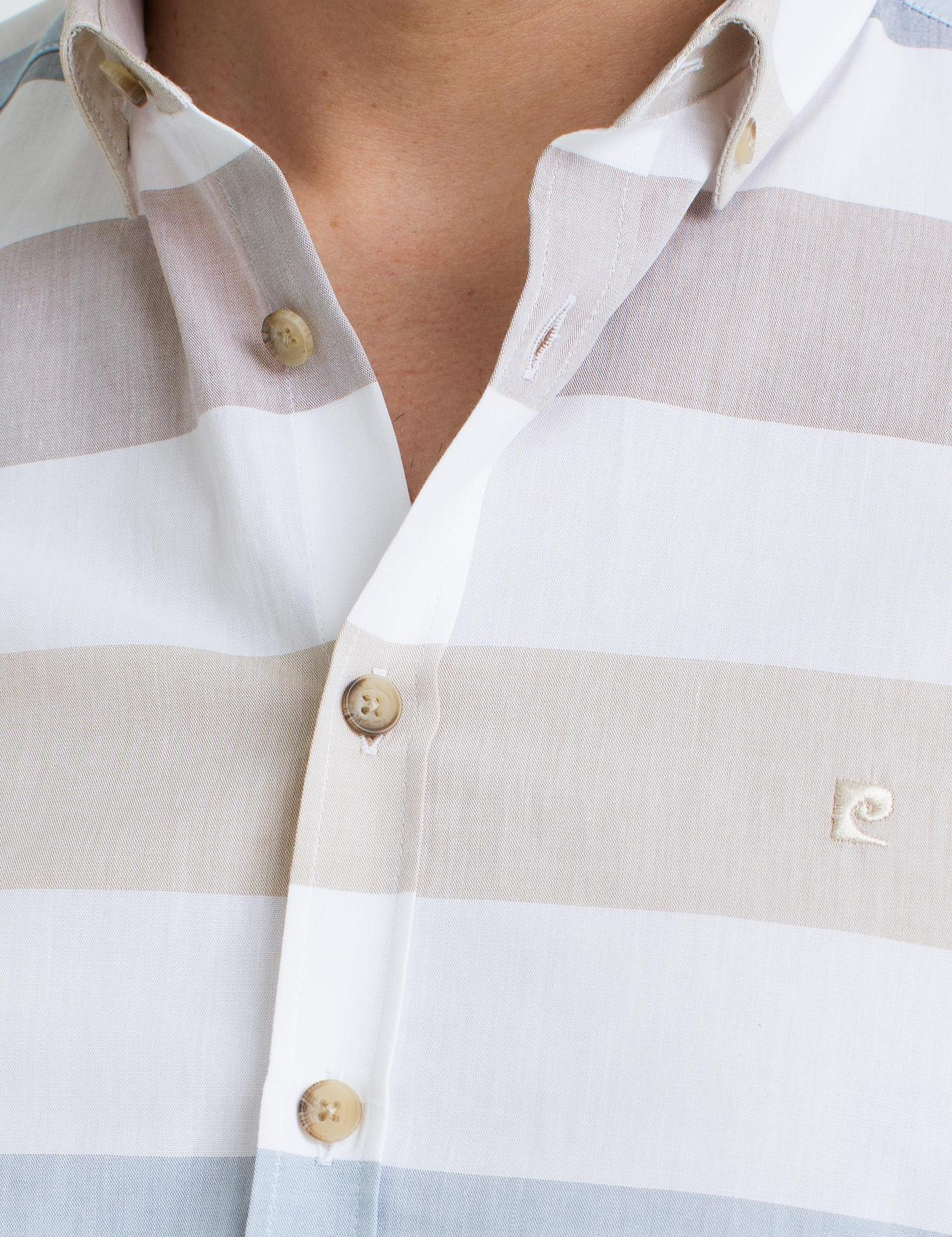 Sarı Slim Fit Kısakol Gömlek