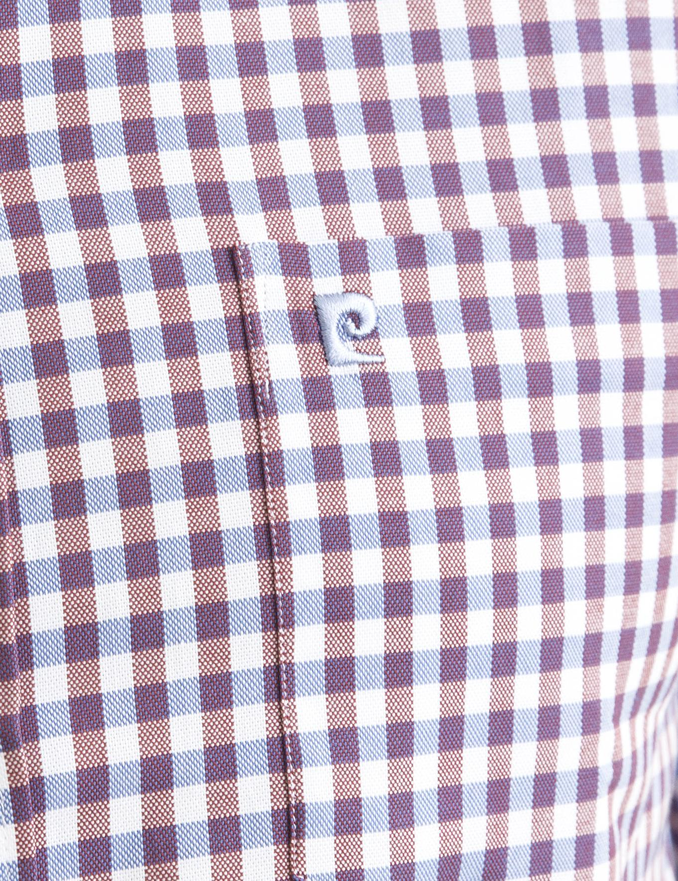 Bordo Detaylı Mavi Regular Fit Gömlek