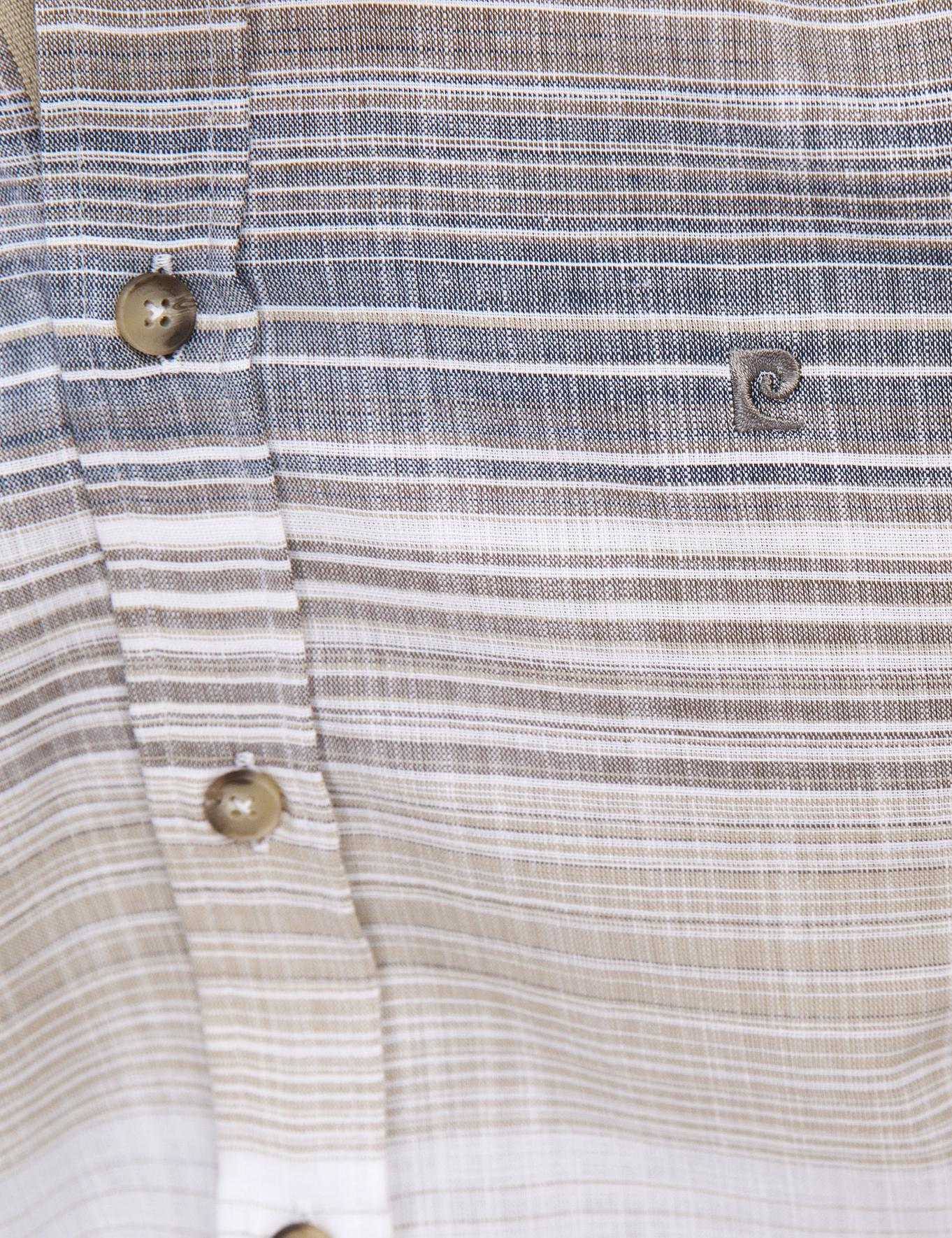 Kahverengi Slim Fit Kısa Kollu Gömlek