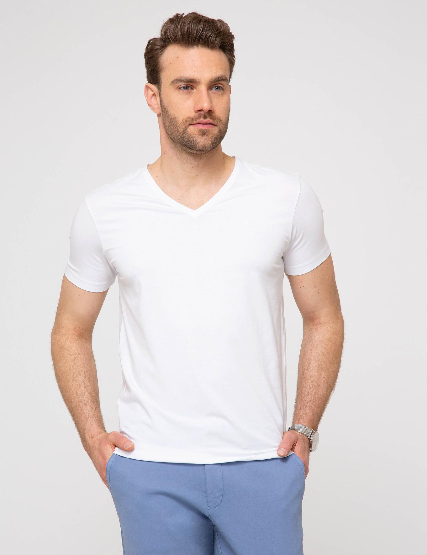 Beyaz Ex. Slim Fit T-Shirt
