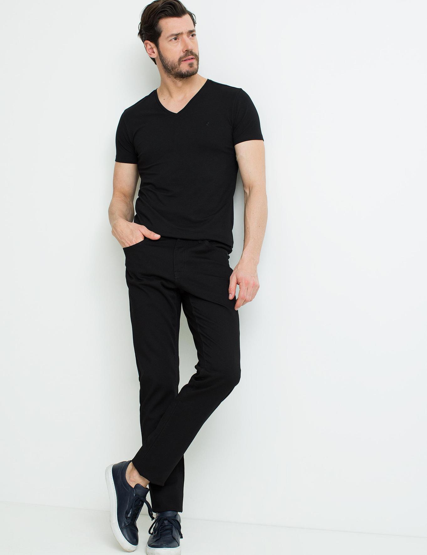 Siyah Ex.Slim Fit T-Shirt