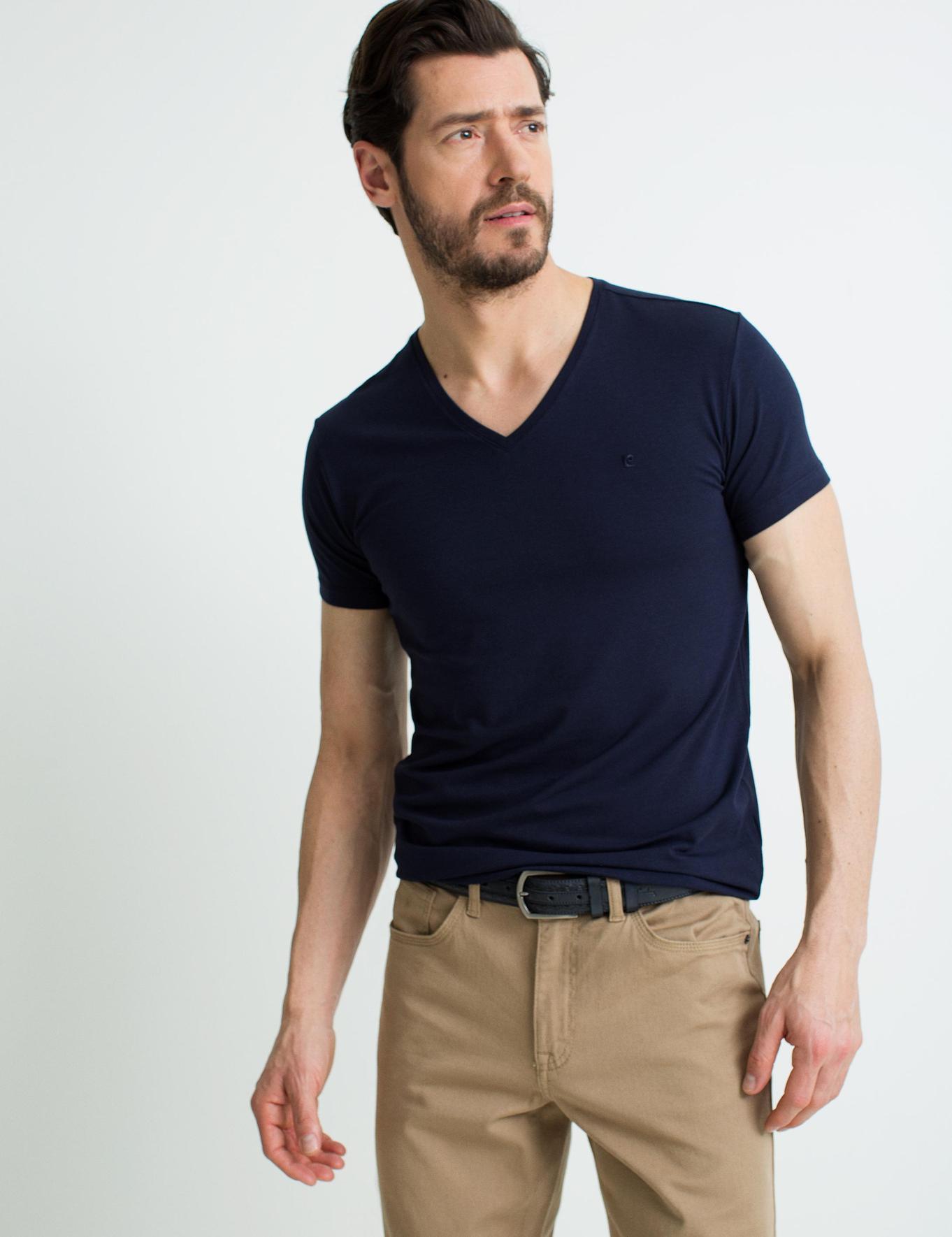 Lacivert Ex. Slim Fit Fit T-Shirt