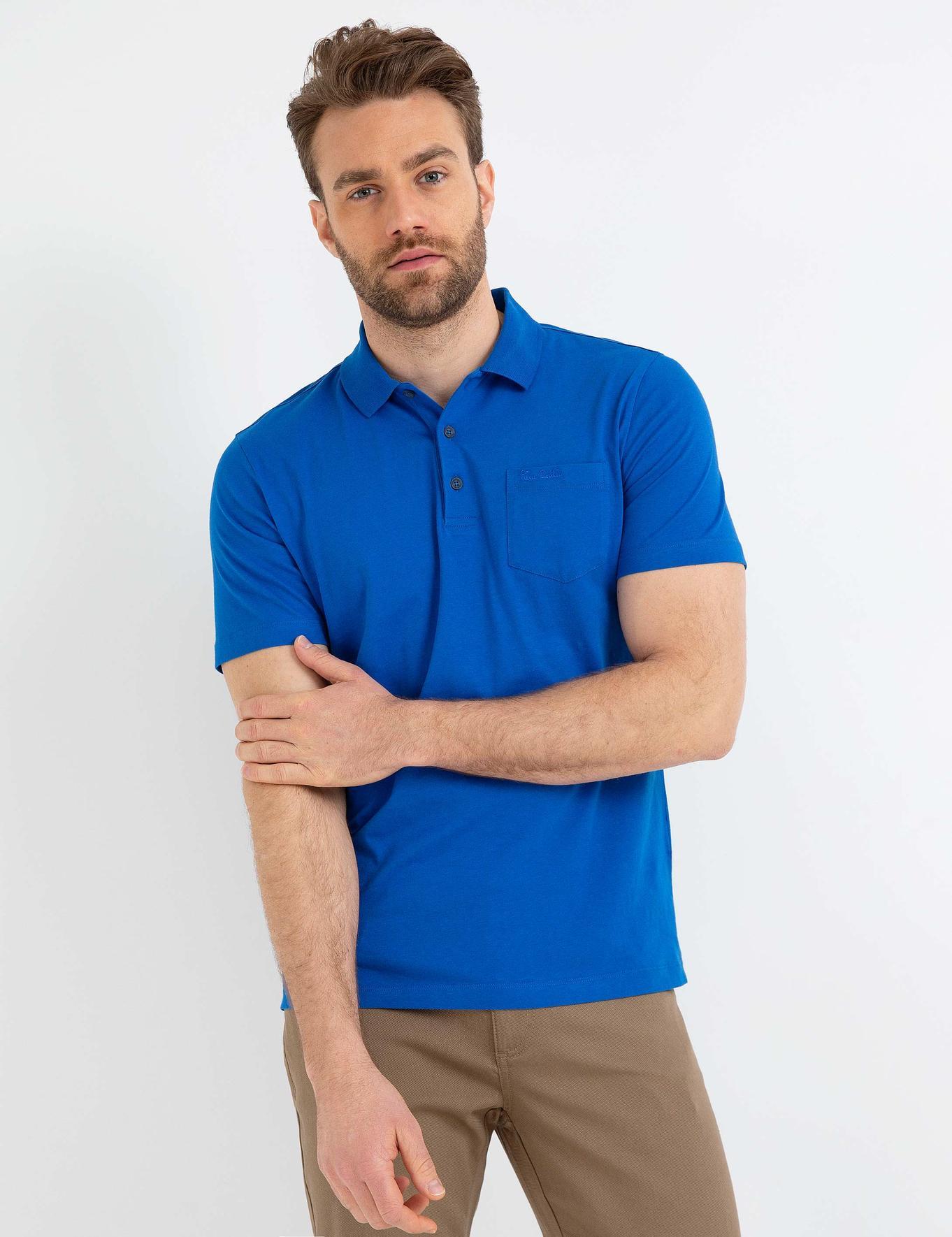 Saks Regular Fit Polo Yaka Basic T-Shirt