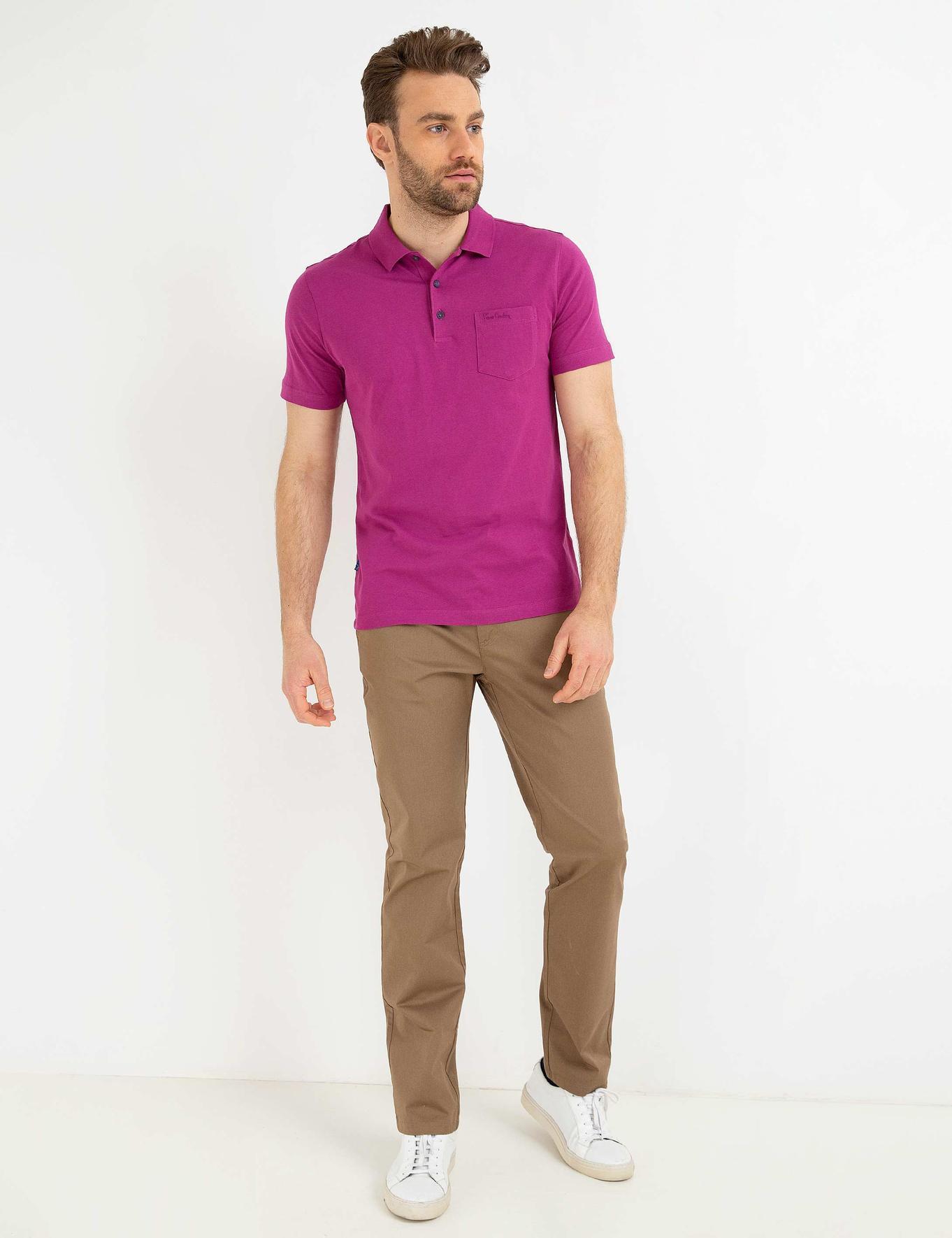 Fuşya Regular Fit T-Shirt