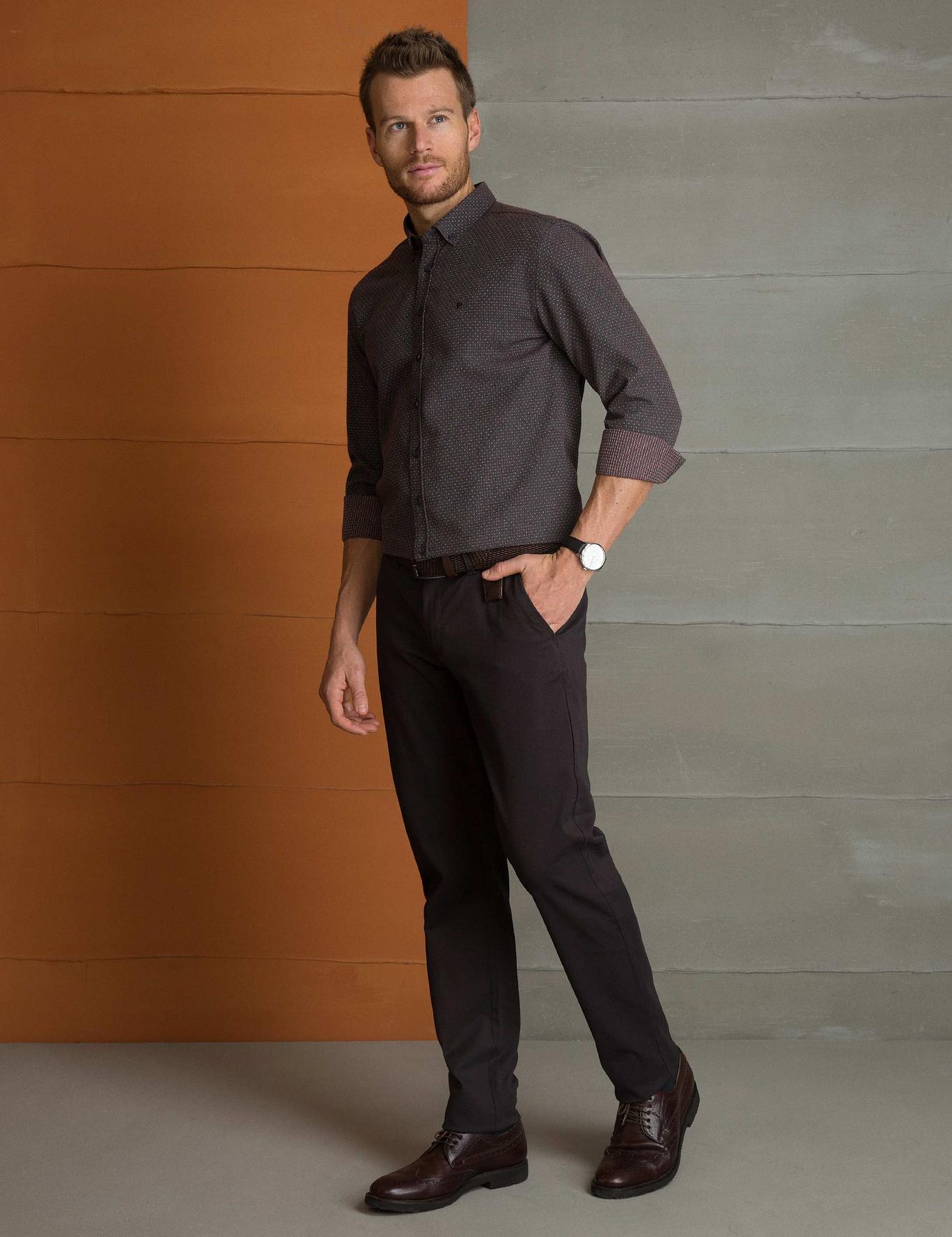 Kahverengi Slim Fit Chino Pantolon