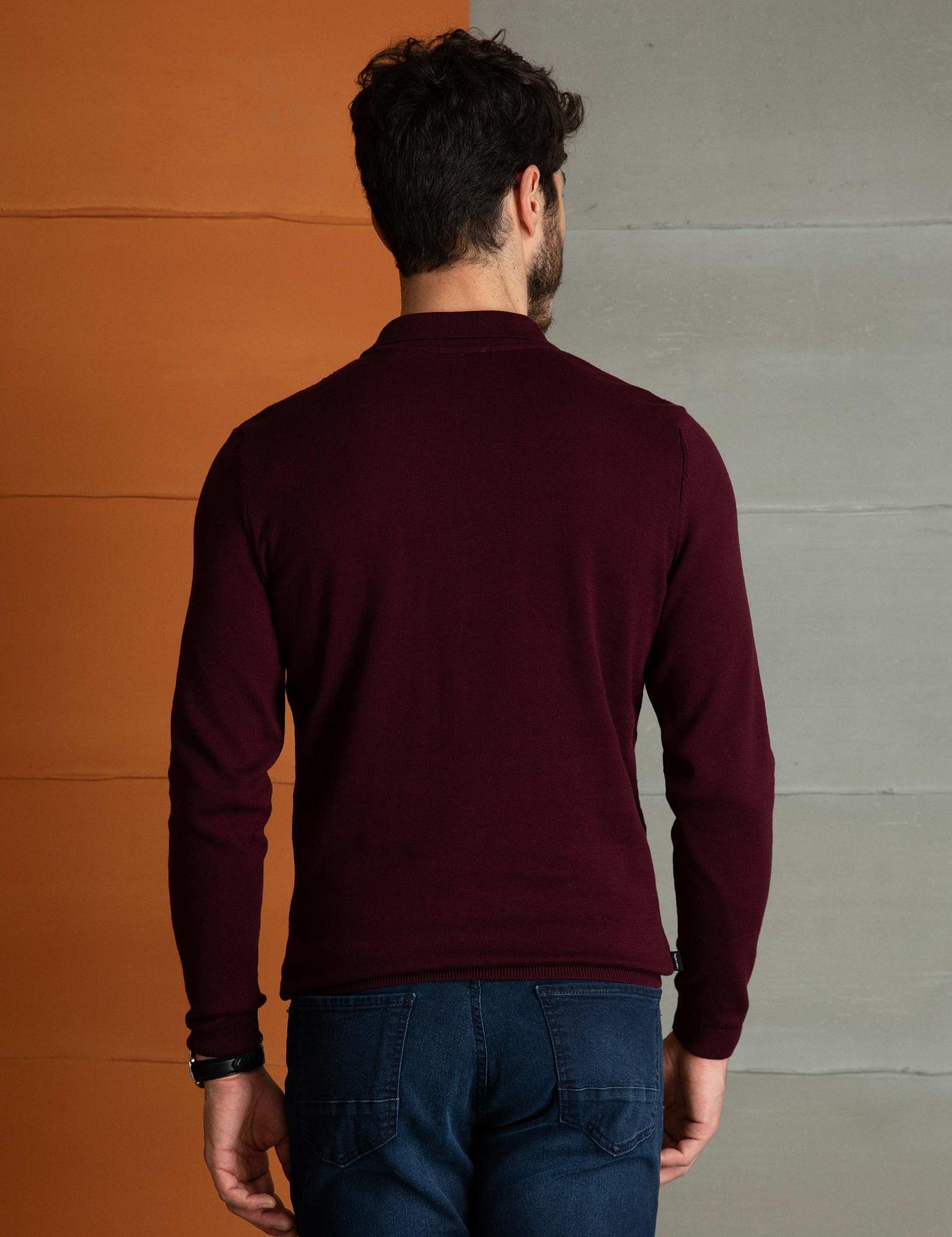 Bordo Slim Fit Triko Kazak