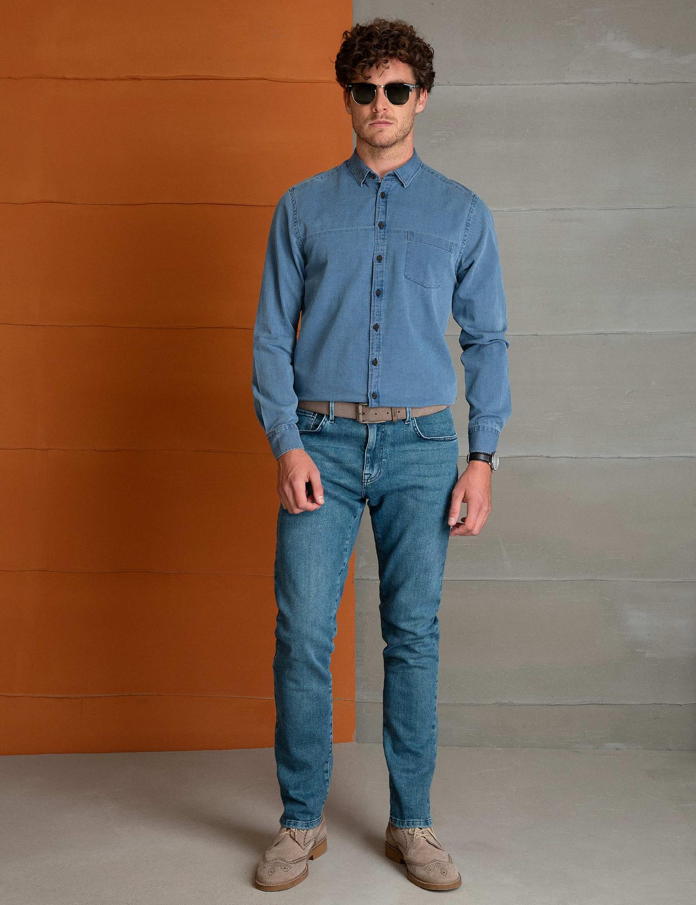 Denim Slim Fit Gömlek