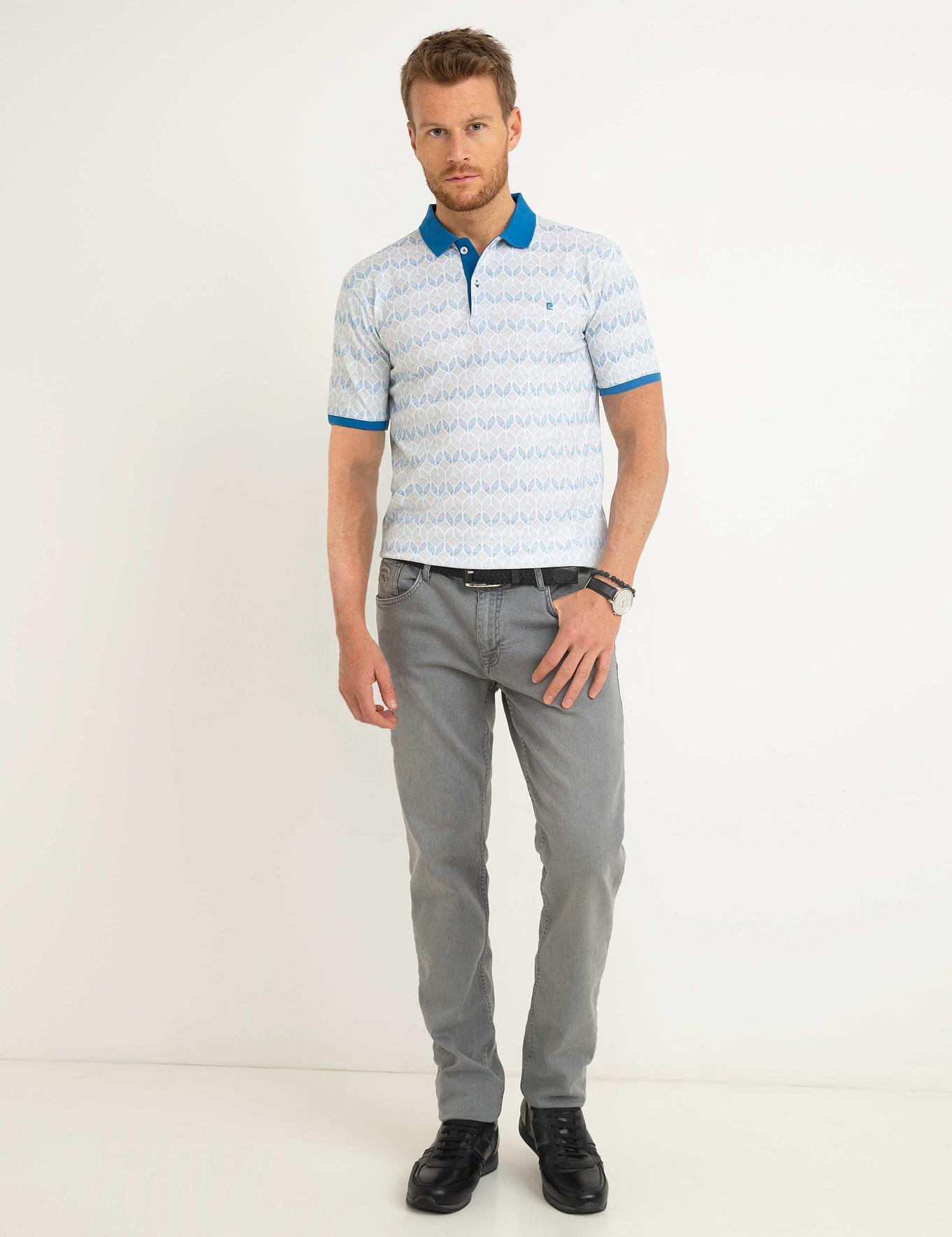 Açık Mavi Slim Fit Polo Yaka T-Shirt