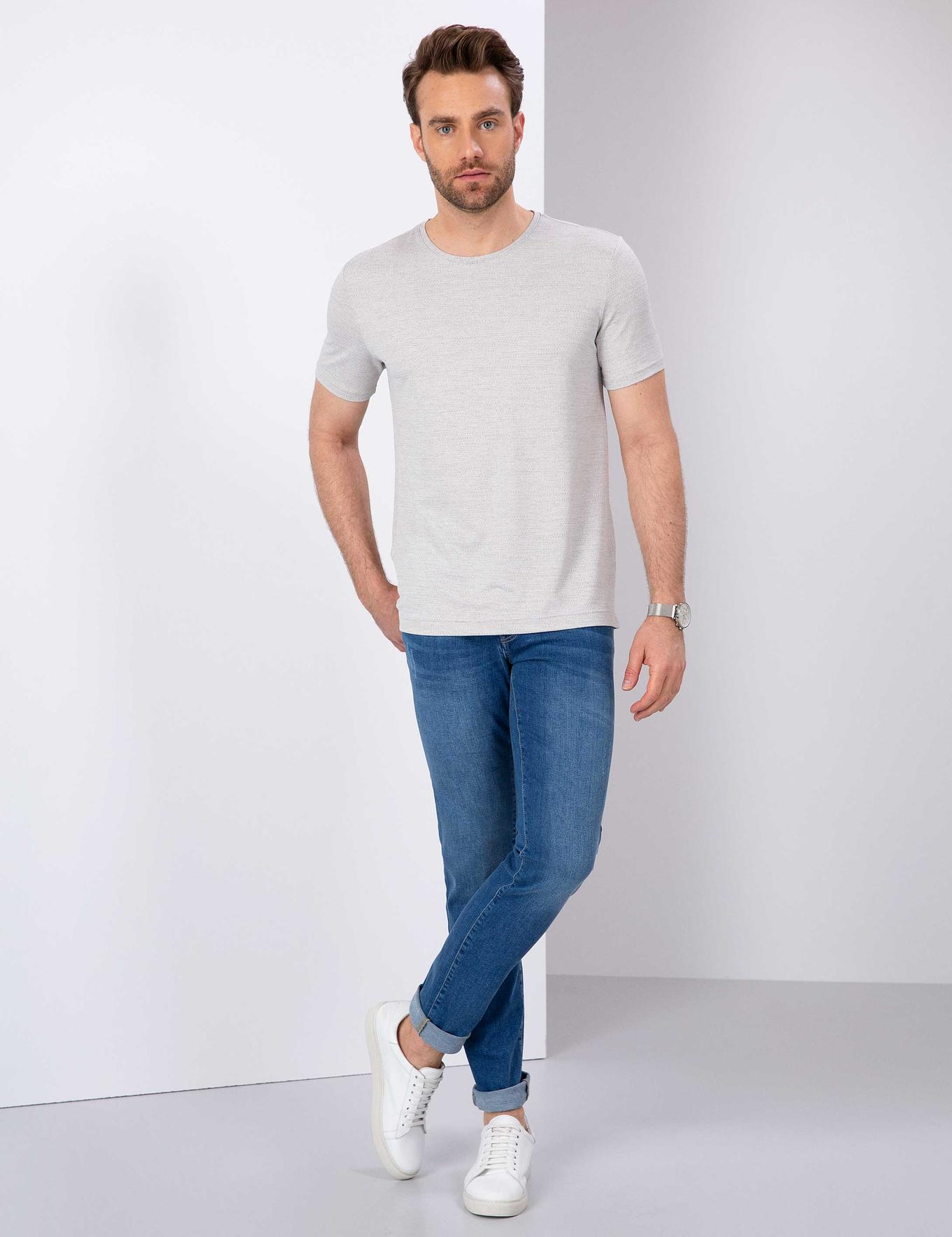Gri Slim Fit T-Shirt