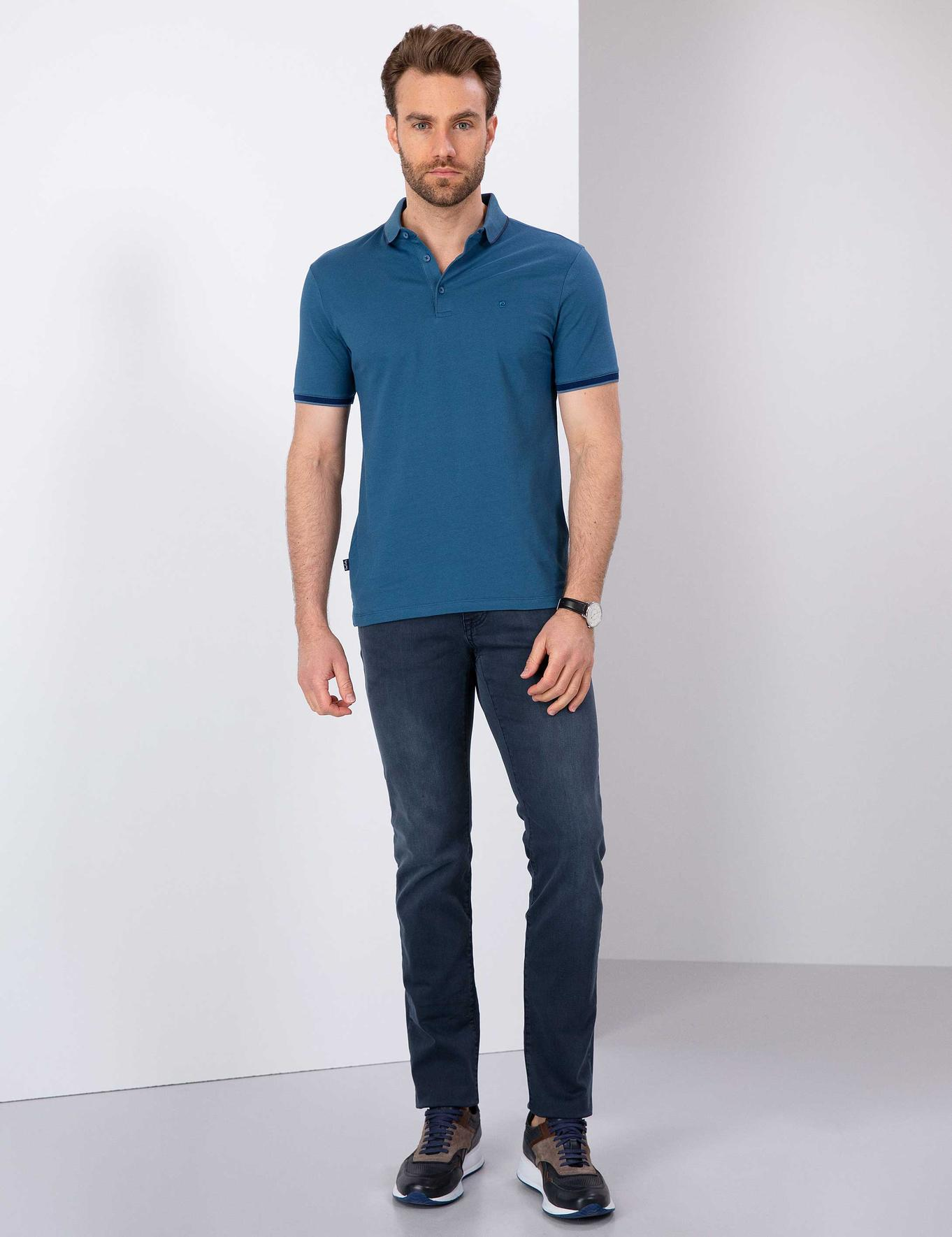 Lacivert Slim Fit Denim Pantolon