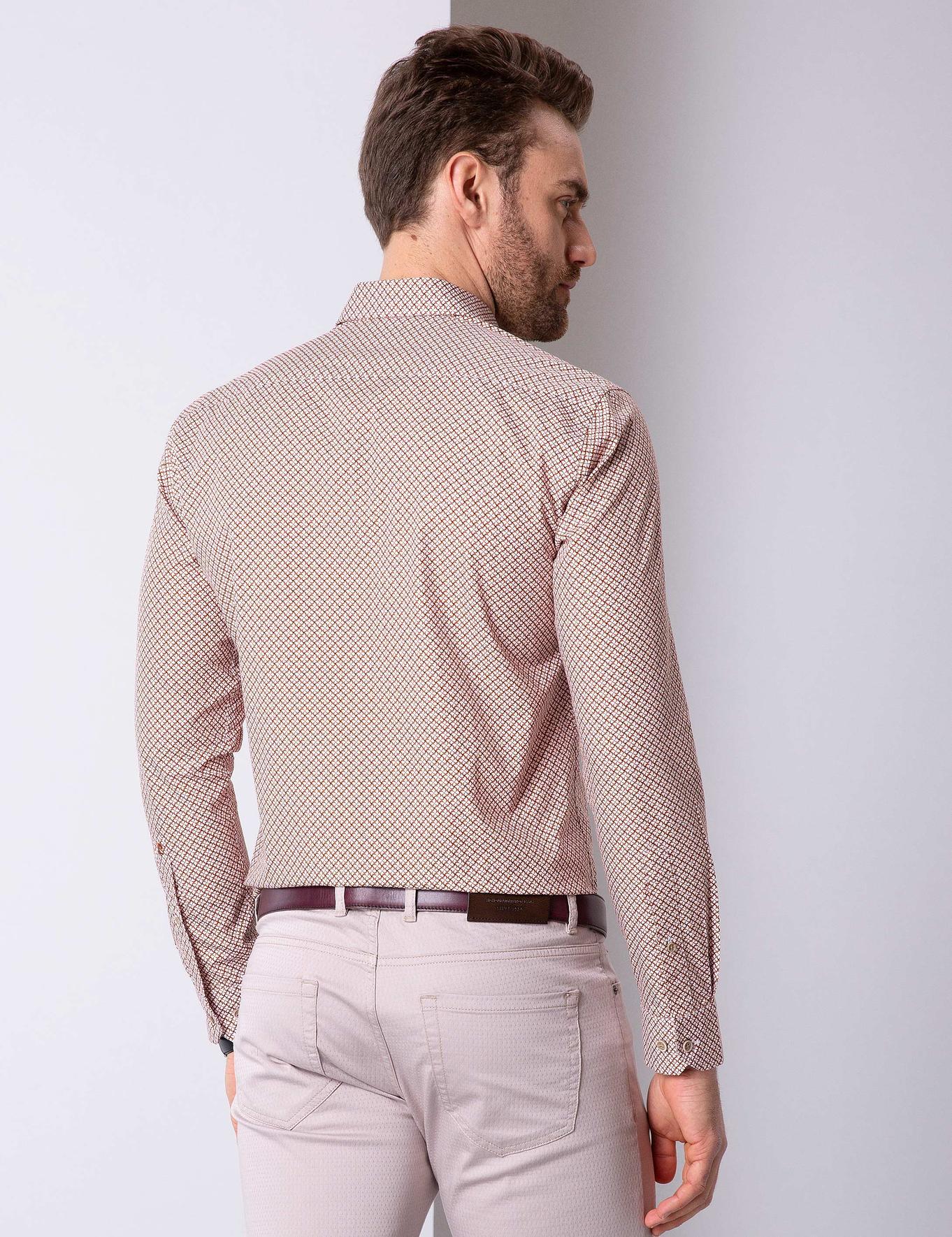 Turuncu Slim Fit Gömlek