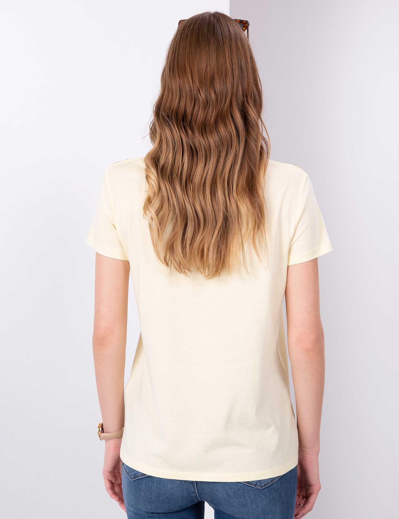 Açık Sarı T-Shirt