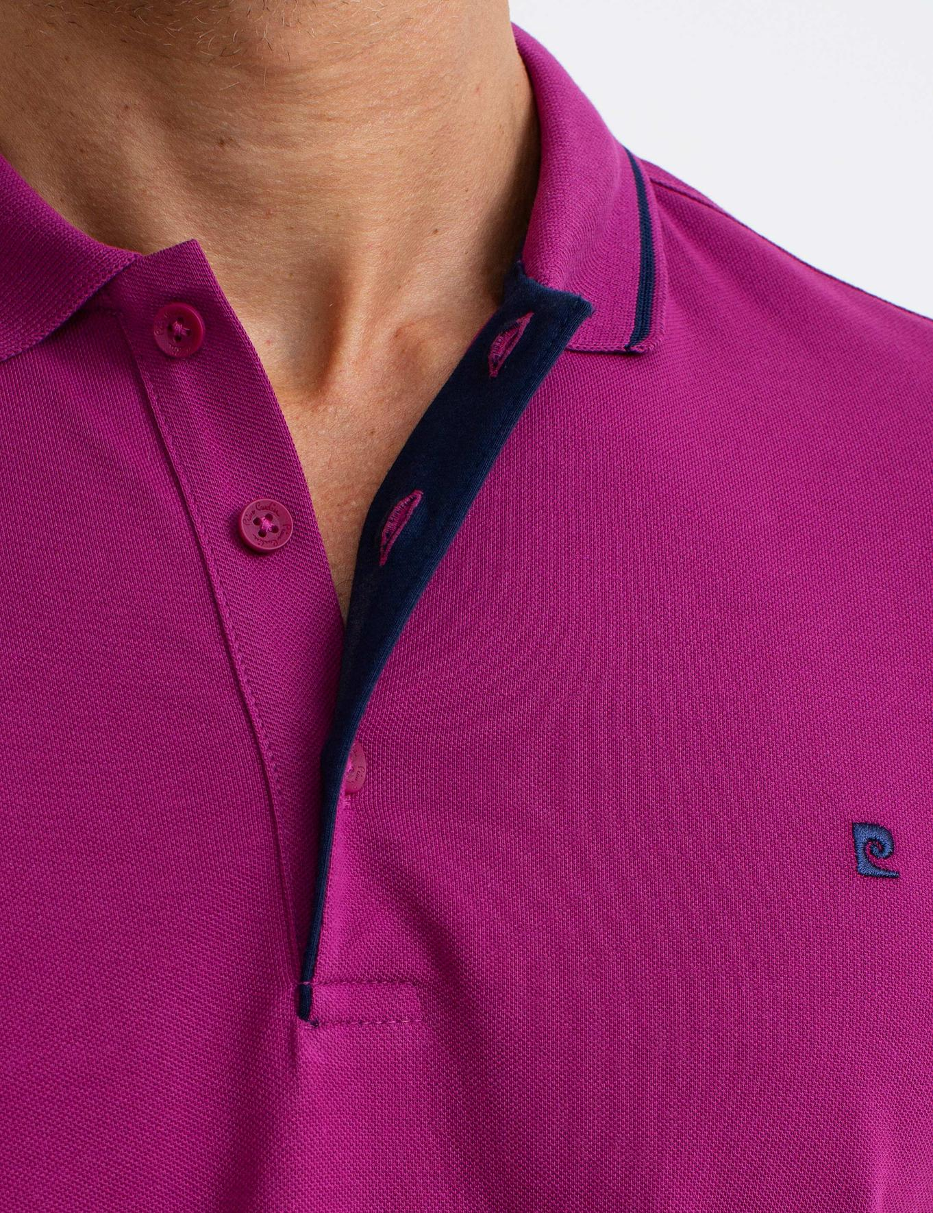Fuşya Slim Fit T-Shirt