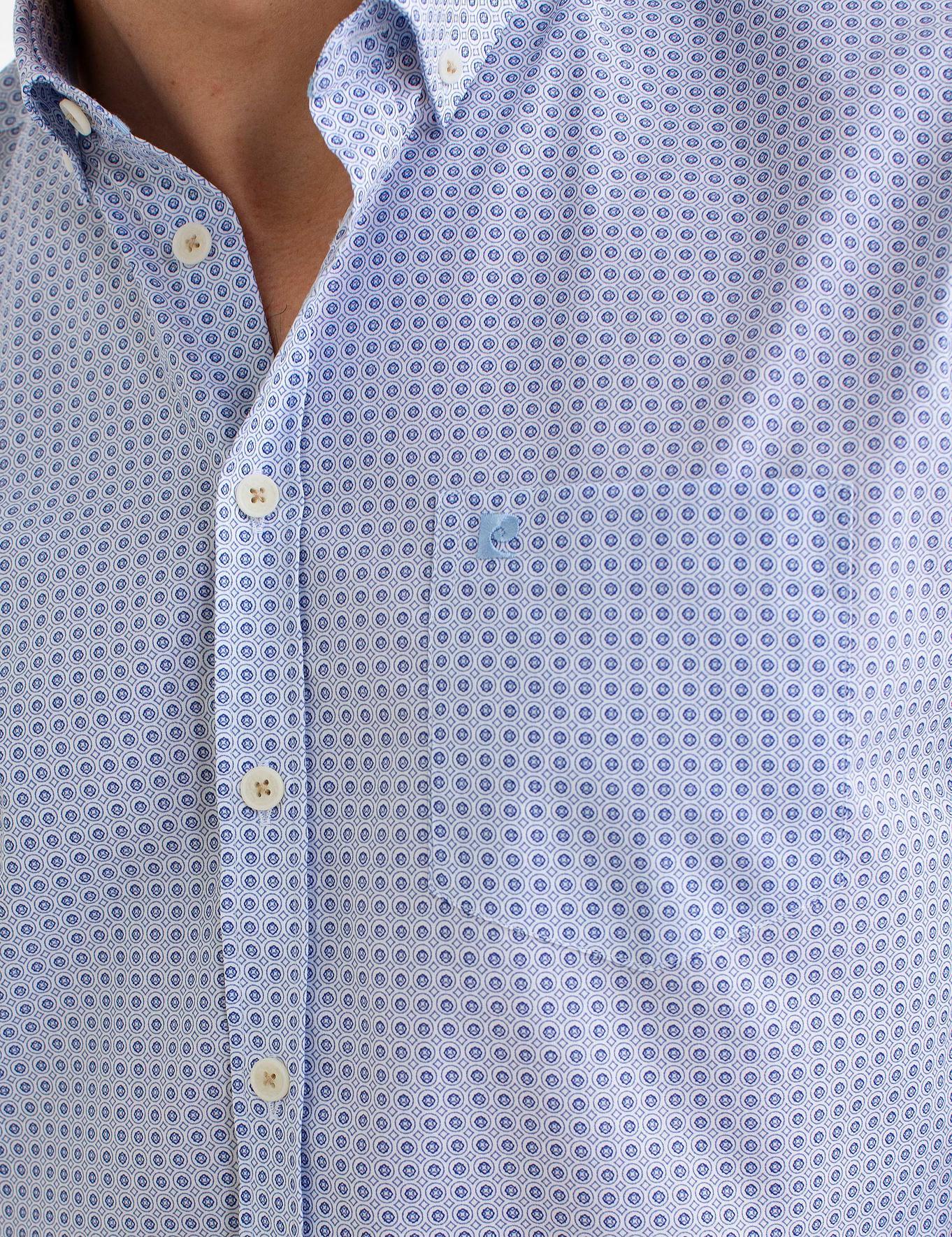 Mavi Regular Fit Kısakol Gömlek