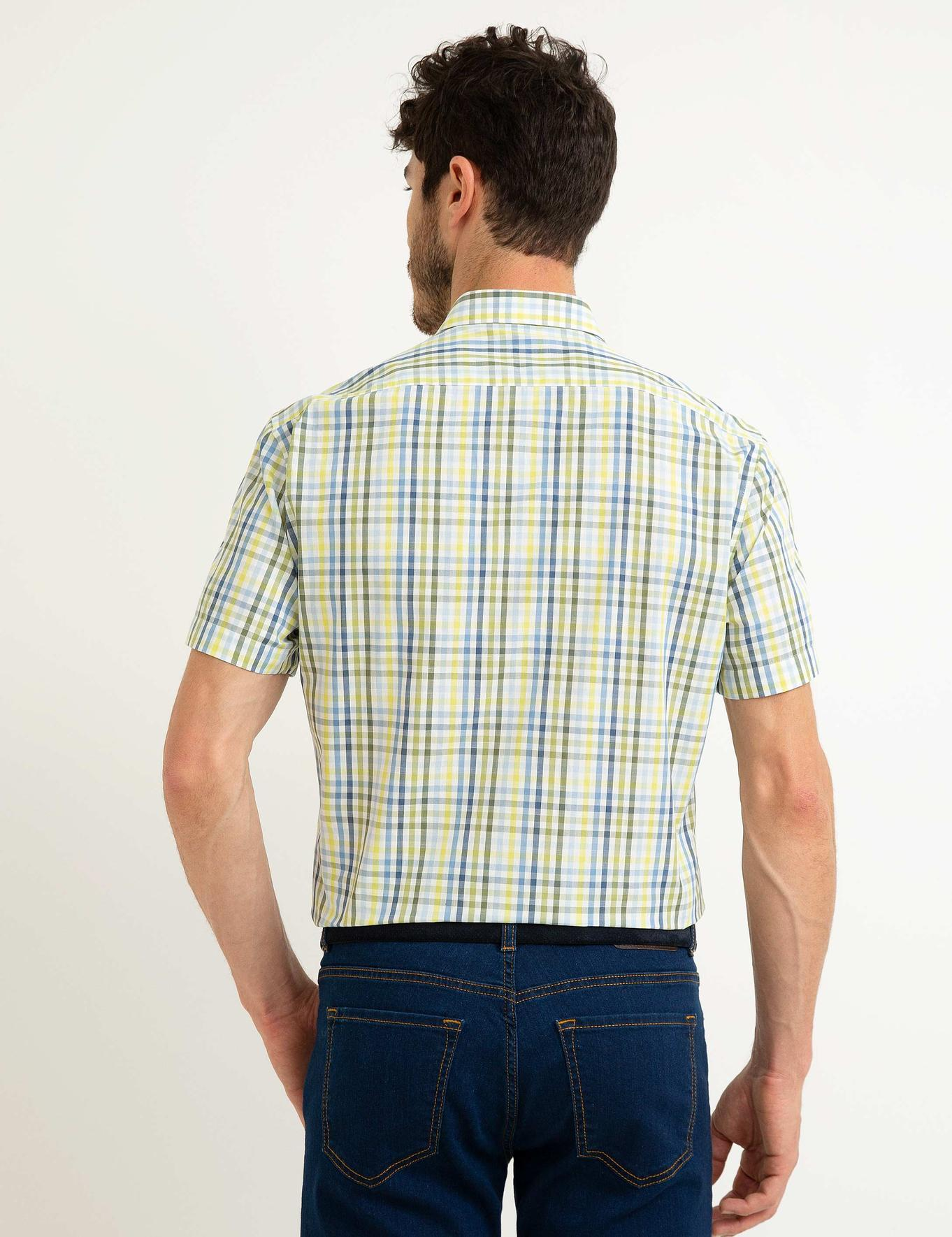 Safran Regular Fit Kısakol Gömlek