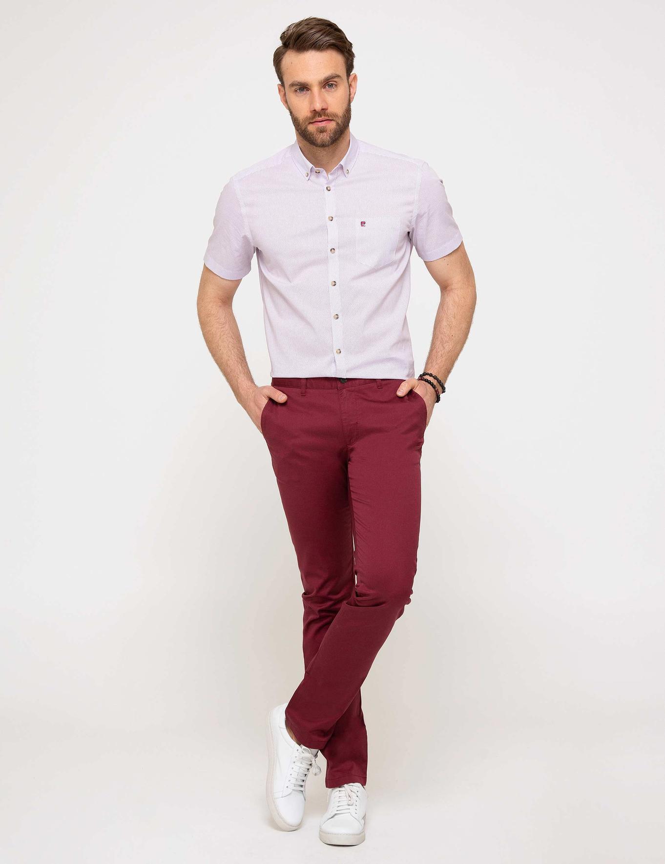 Kırmızı Regular Fit Kısa Kollu Gömlek