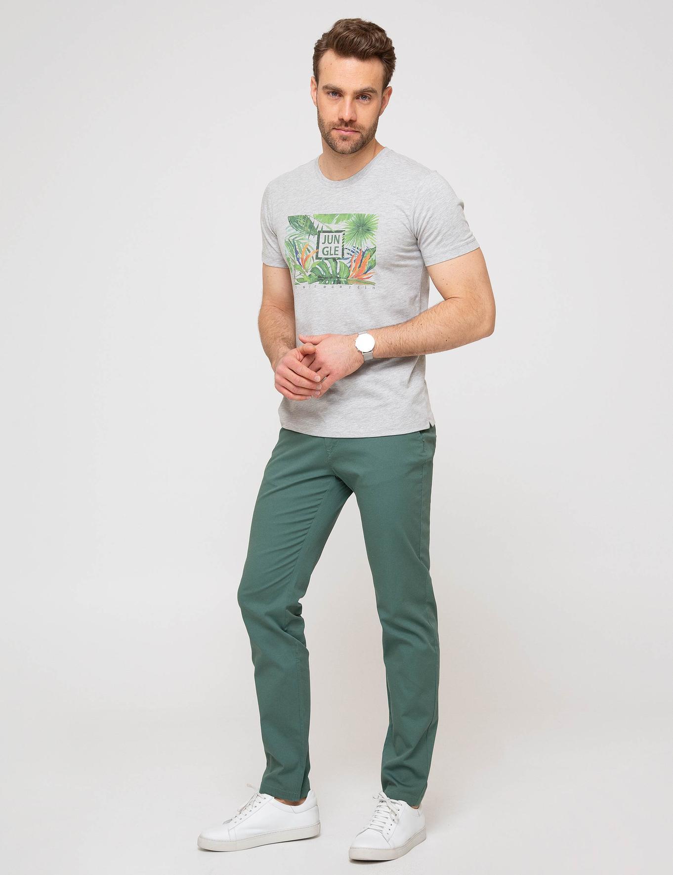 Yeşil Slim Fit Chino Pantolon