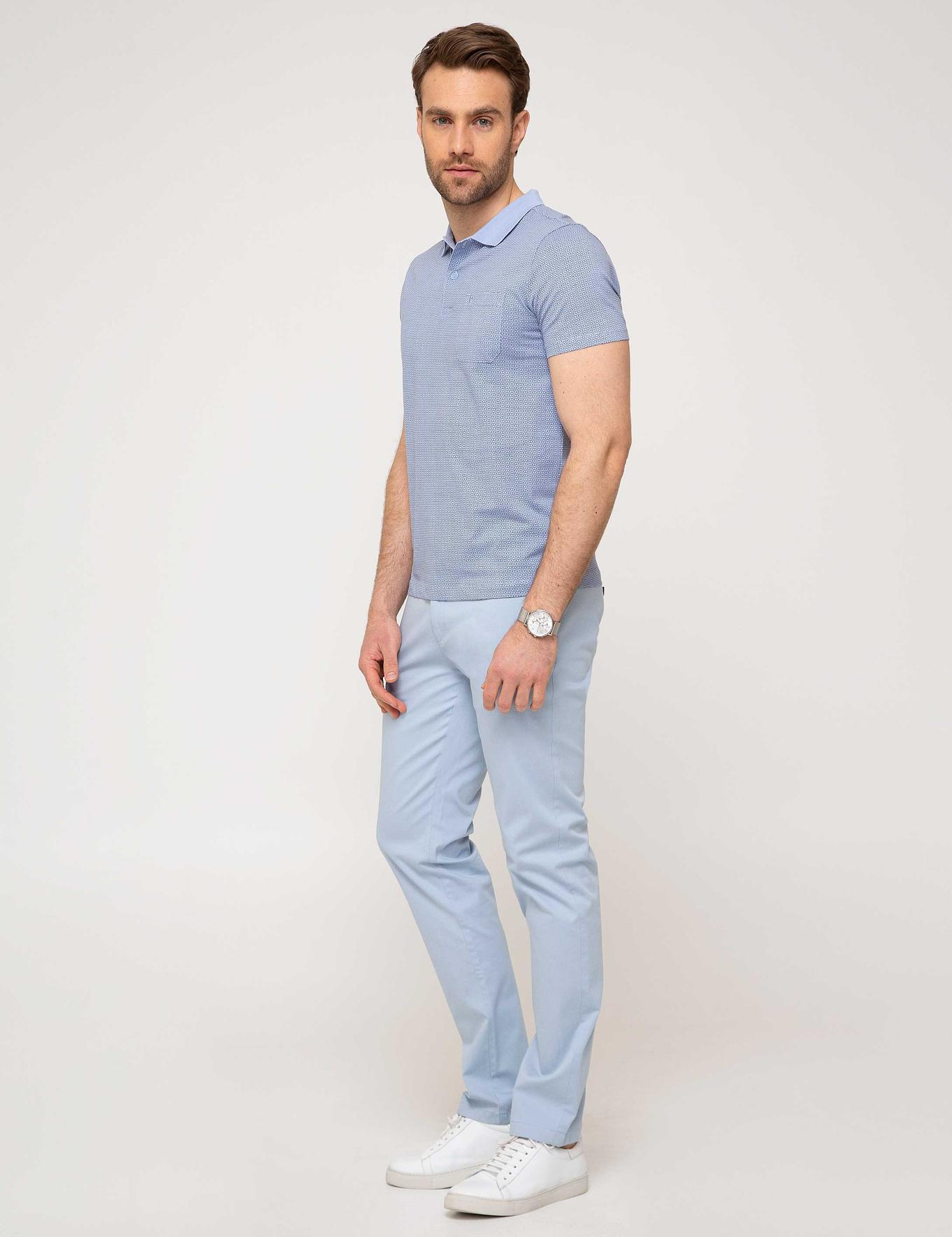Açık Mavi Slim Fit Chino Pantolon