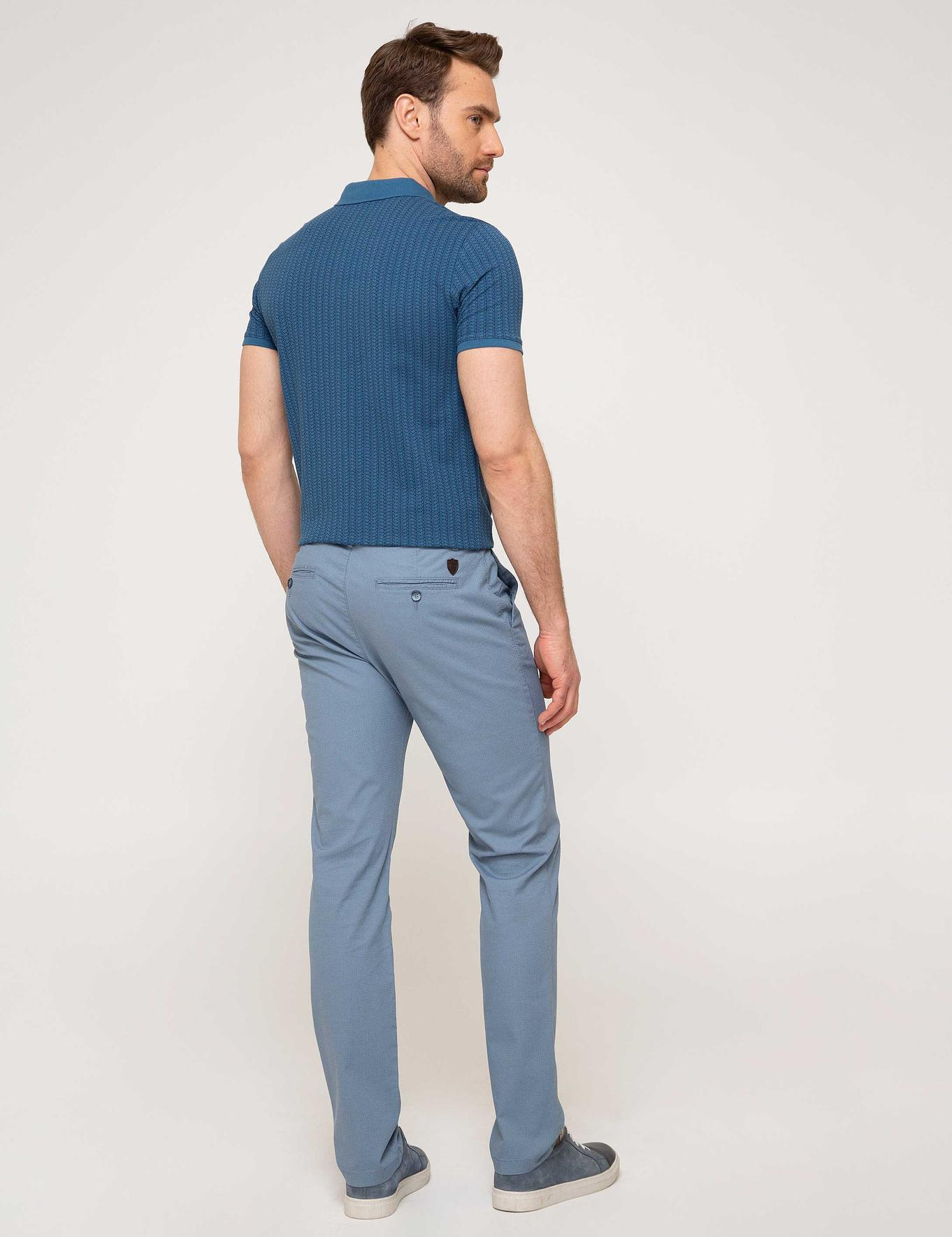 Koyu Mavi Slim Fit Chino Pantolon