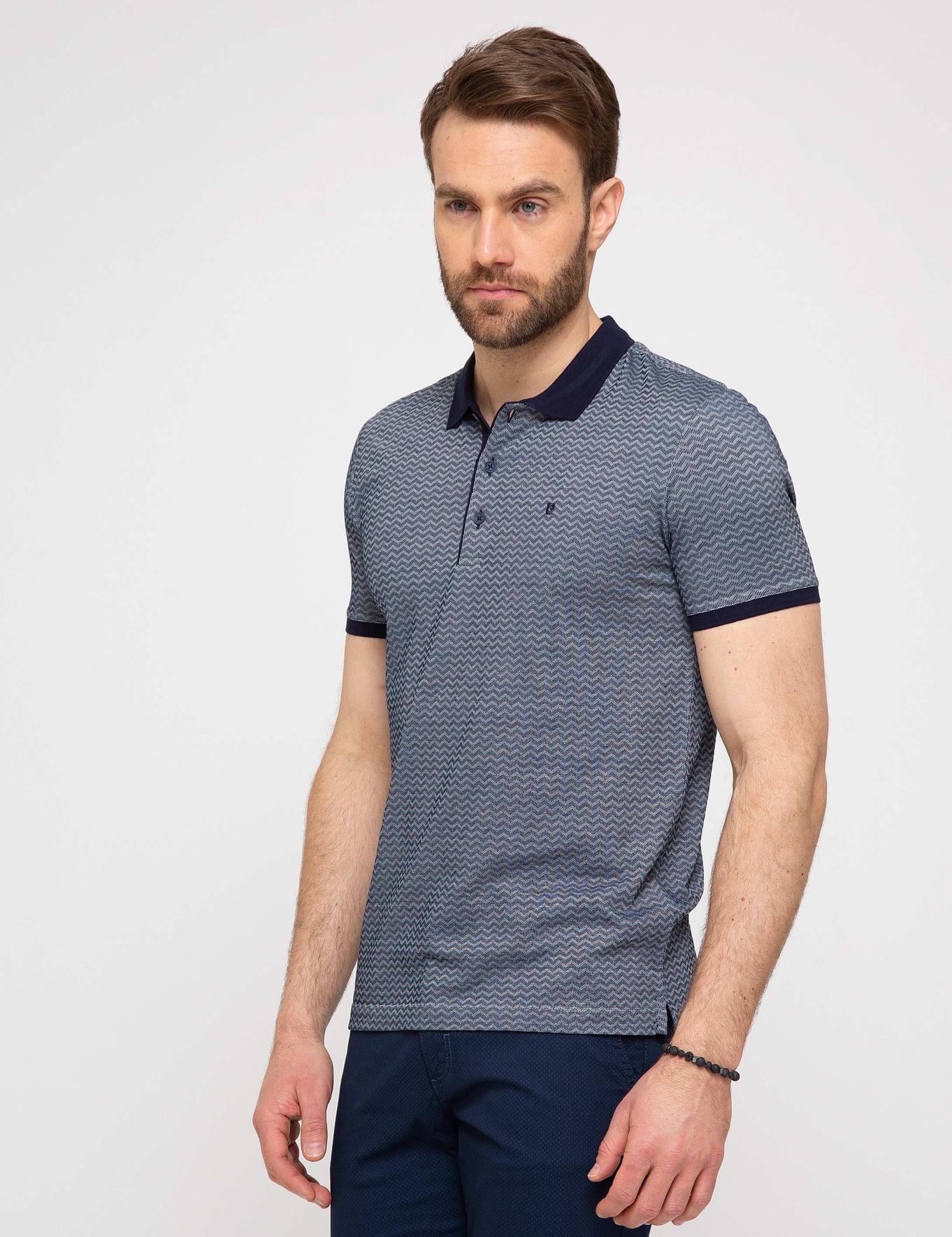 Lacivert Slim Fit Polo T-Shirt