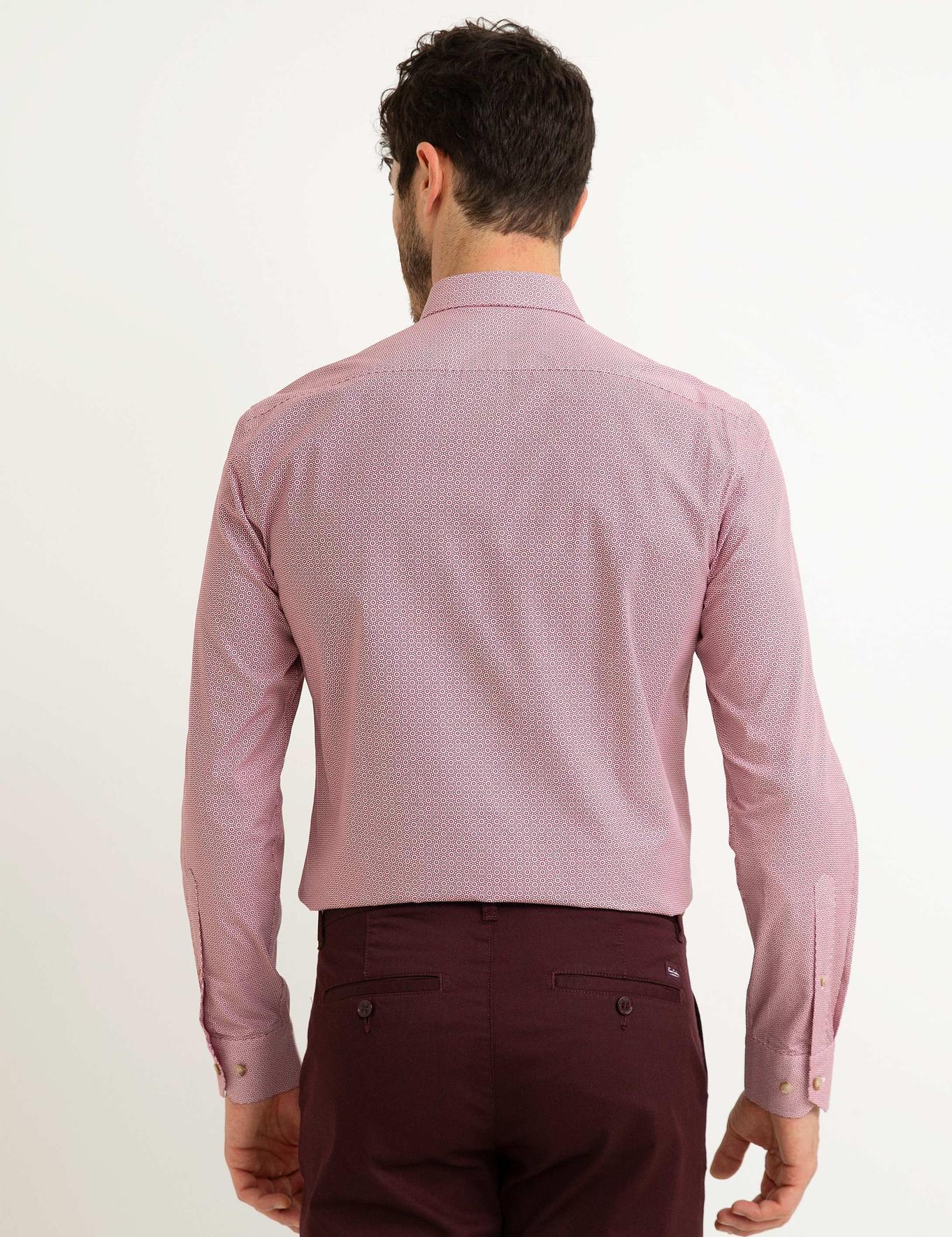 Kırmızı Slim Fit Gömlek