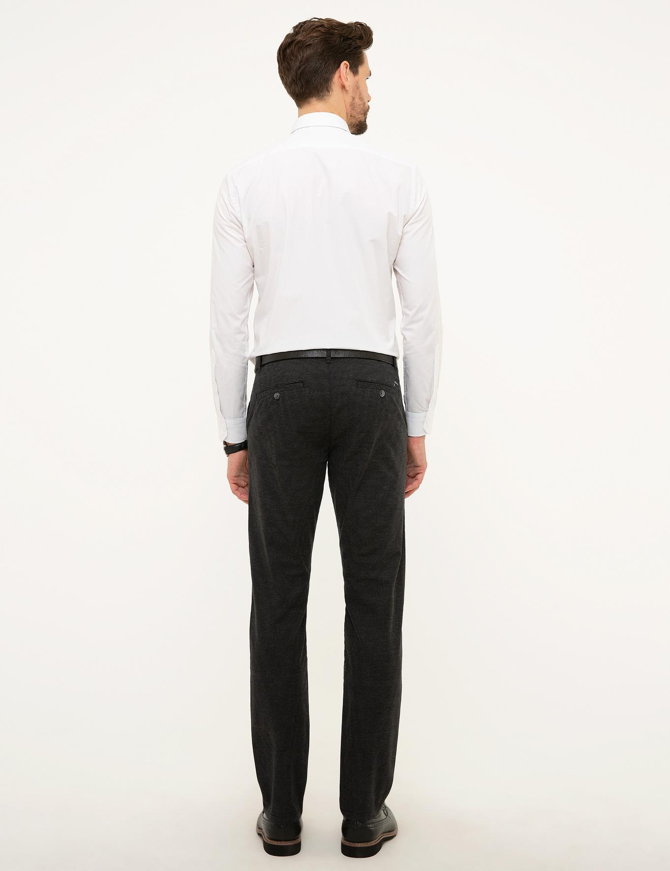 Antrasit Gri Slim Fit Chino Pantolon