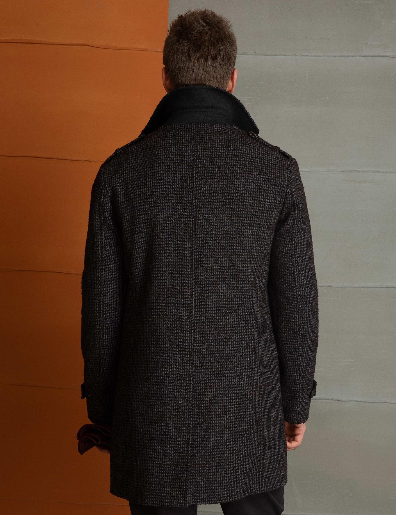 Kahverengi Slim Fit Palto