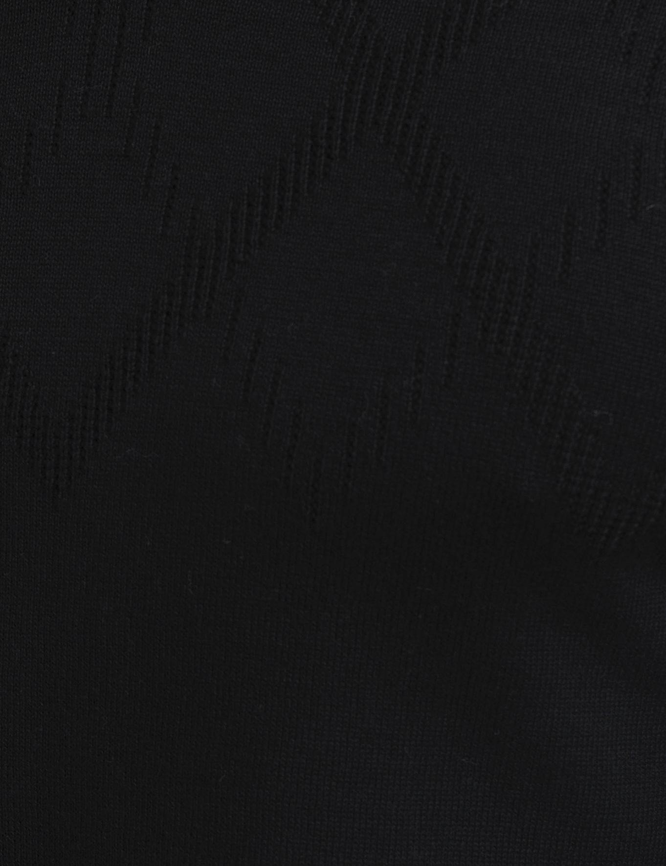 Siyah Slim Fit V Yaka Triko Kazak