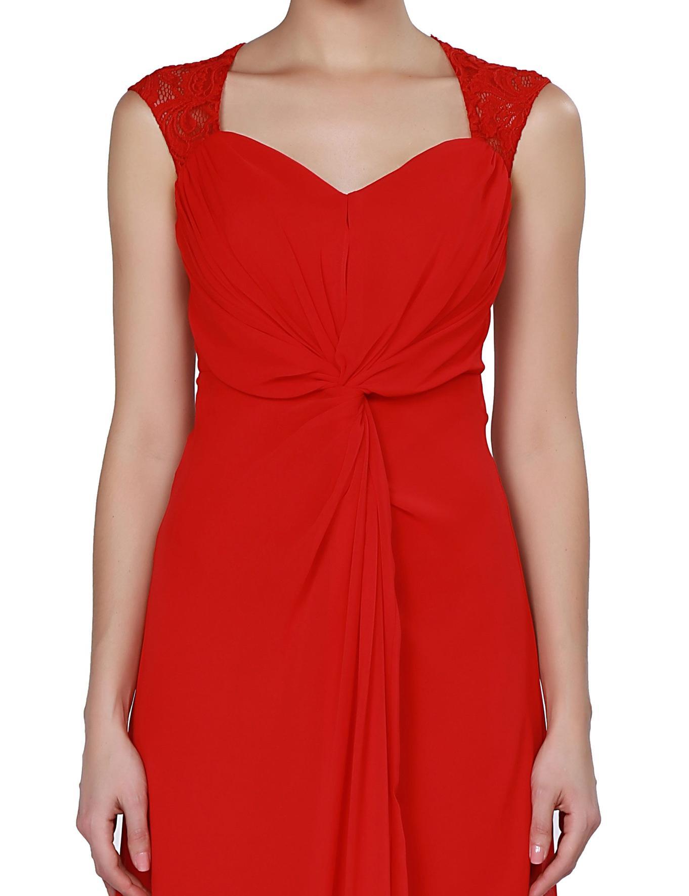 Kırmızı Dokuma Elbise