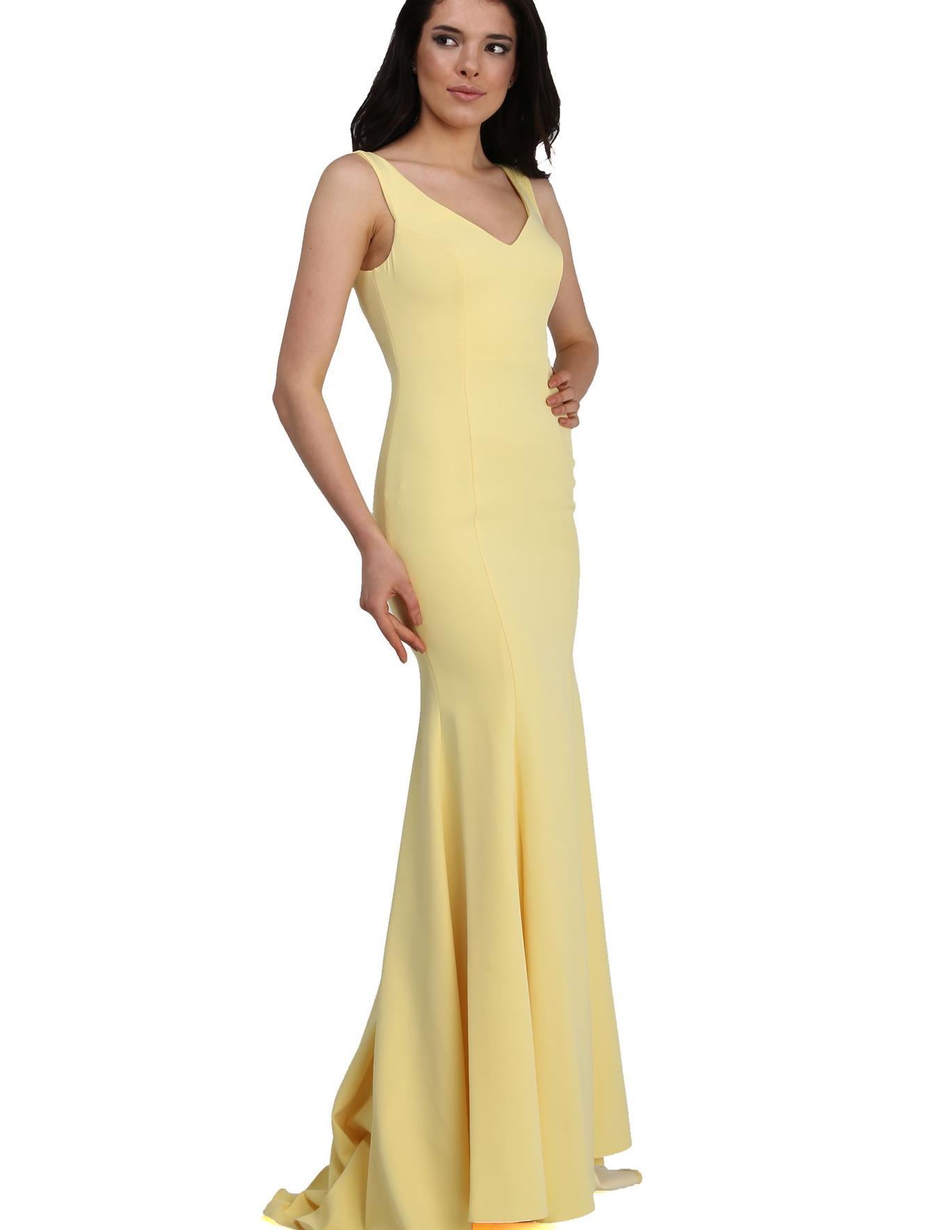Sarı Dokuma Elbise