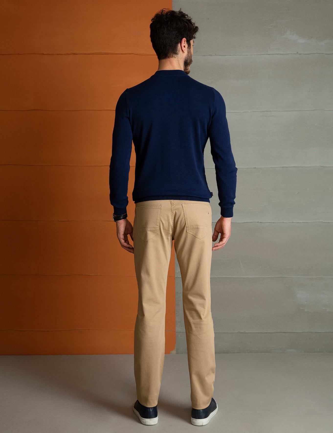Camel Slim Fit Chino Pantolon