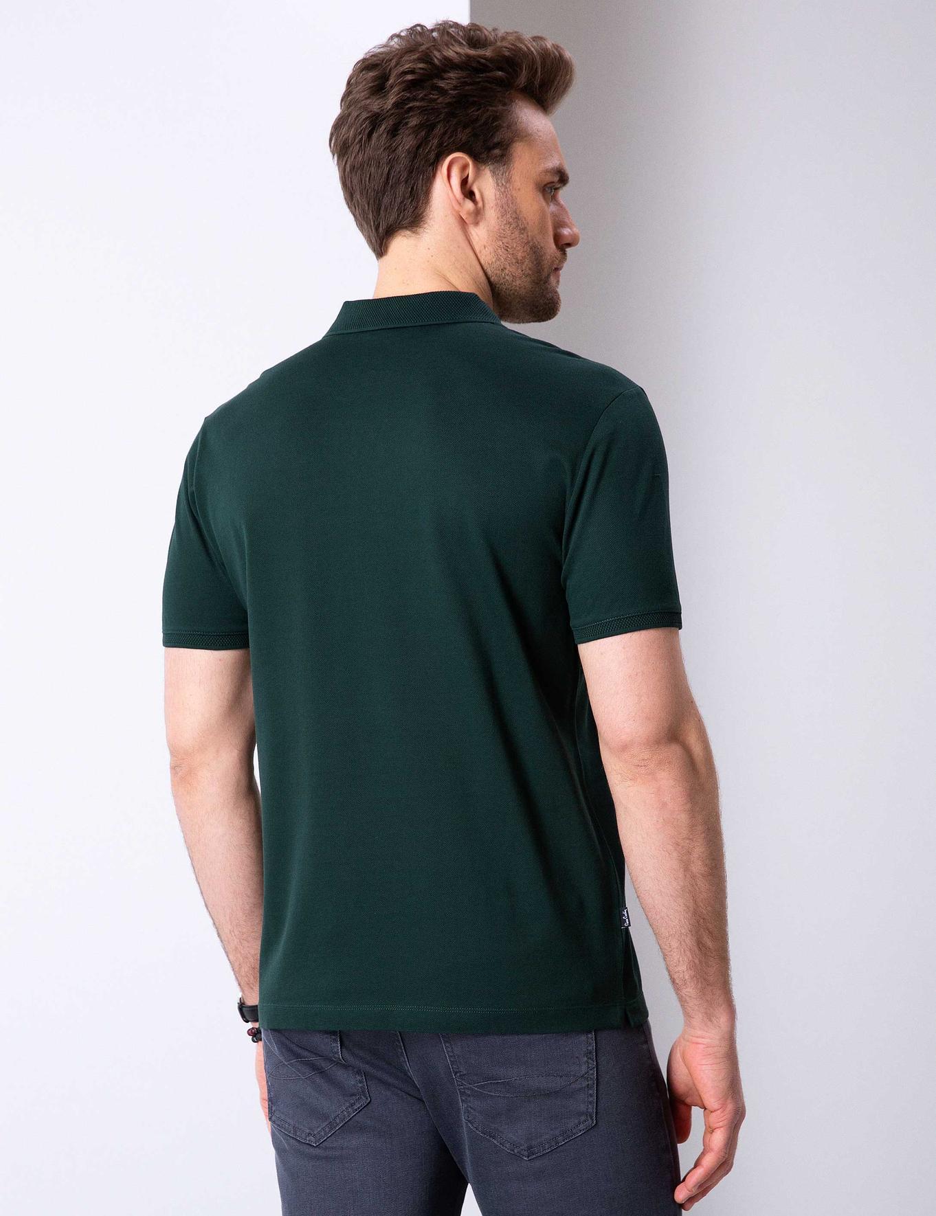 Koyu Yeşil Slim Fit T-Shirt