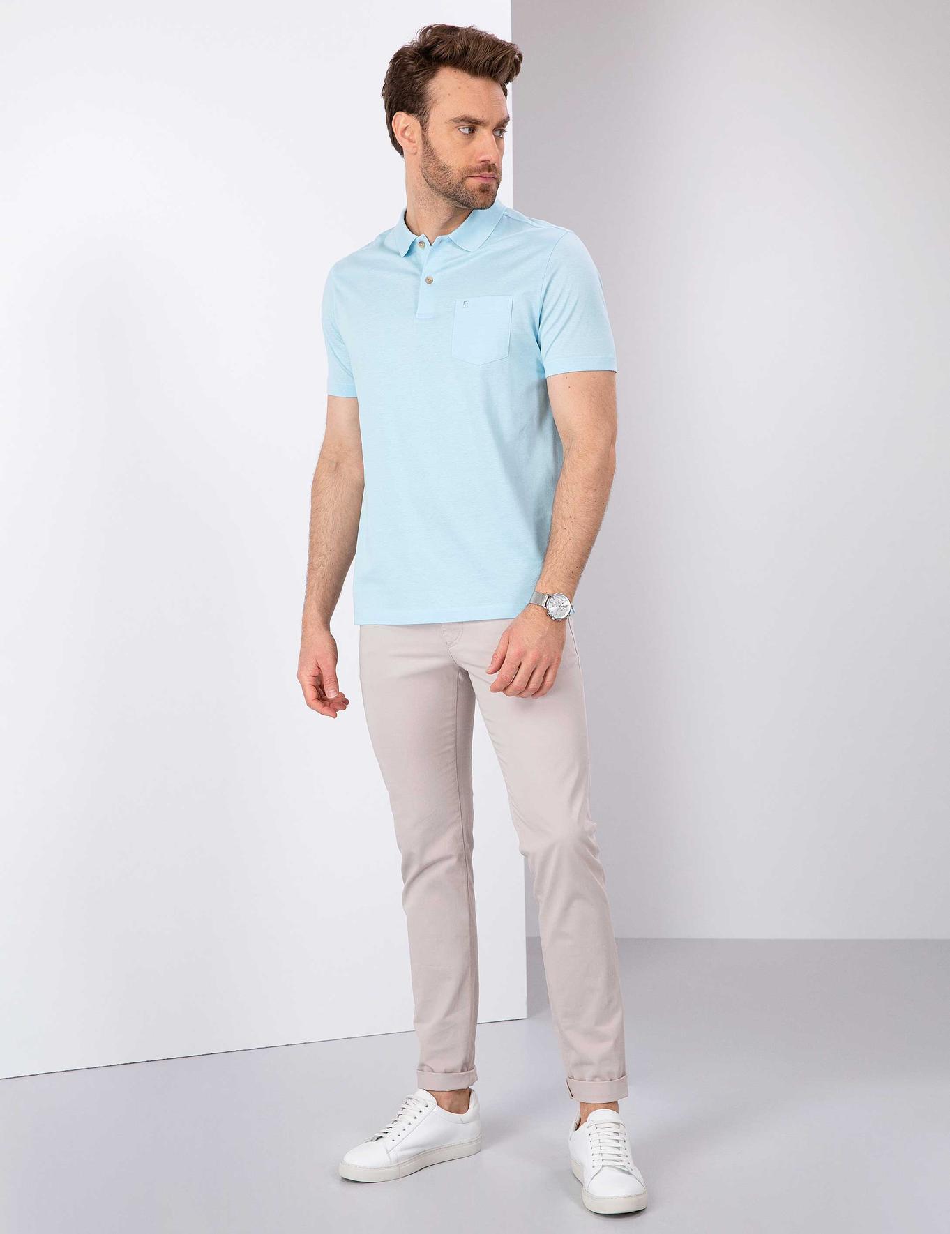 Açık Mavi Regular Fit T-Shirt