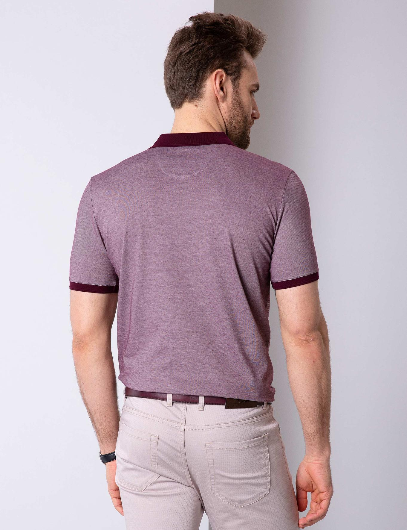 Bordo Regular Fit Polo Yaka T-Shirt