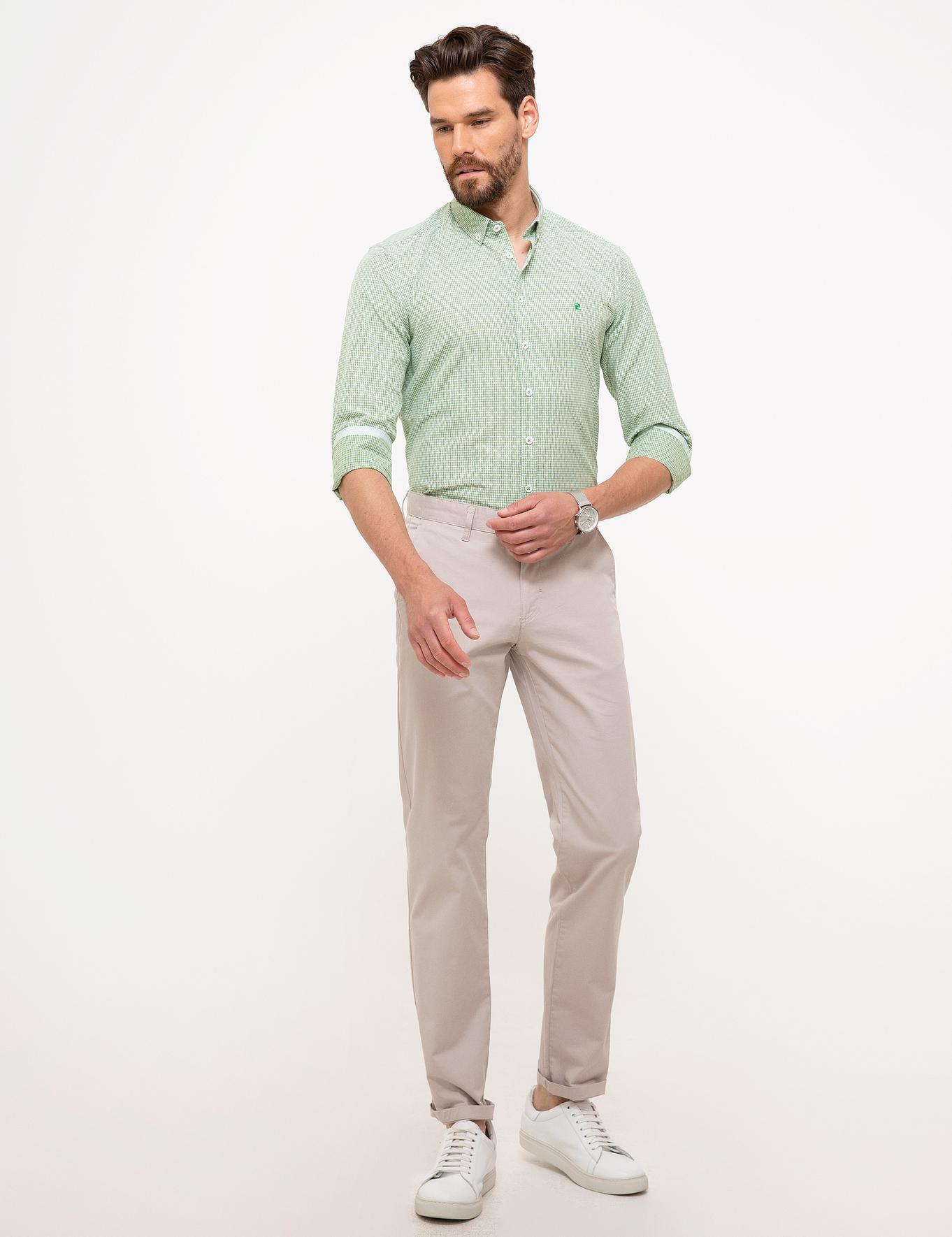 Bej Regular Fit Chino Pantolon