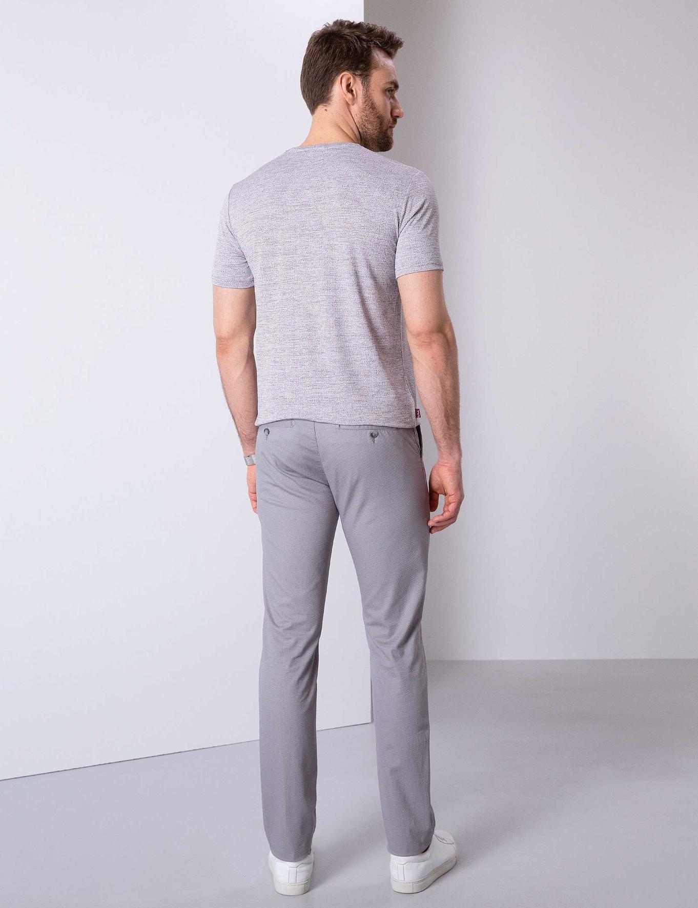Gri Slim Fit Chino Pantolon