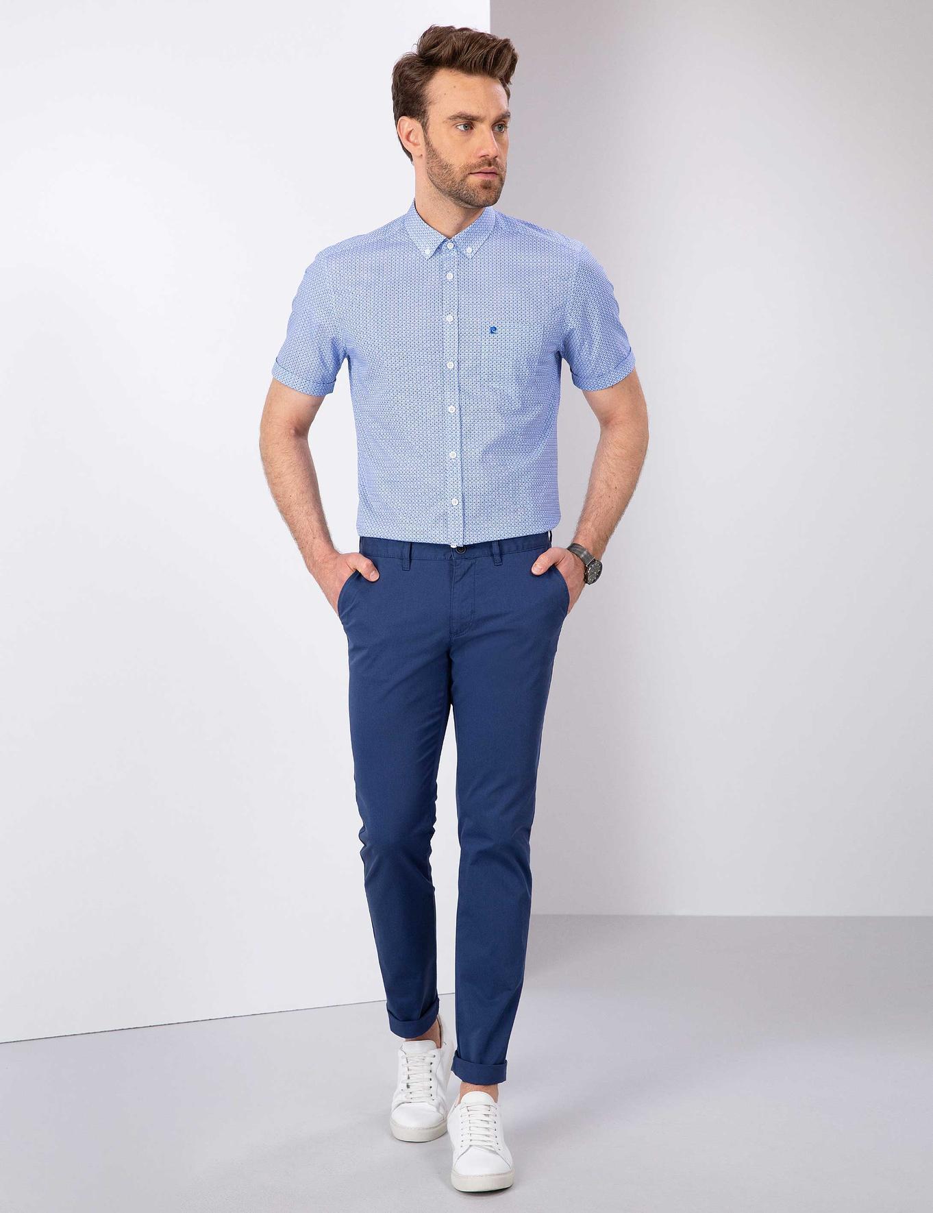 Mavi Regular Fit Kısa Kollu Gömlek