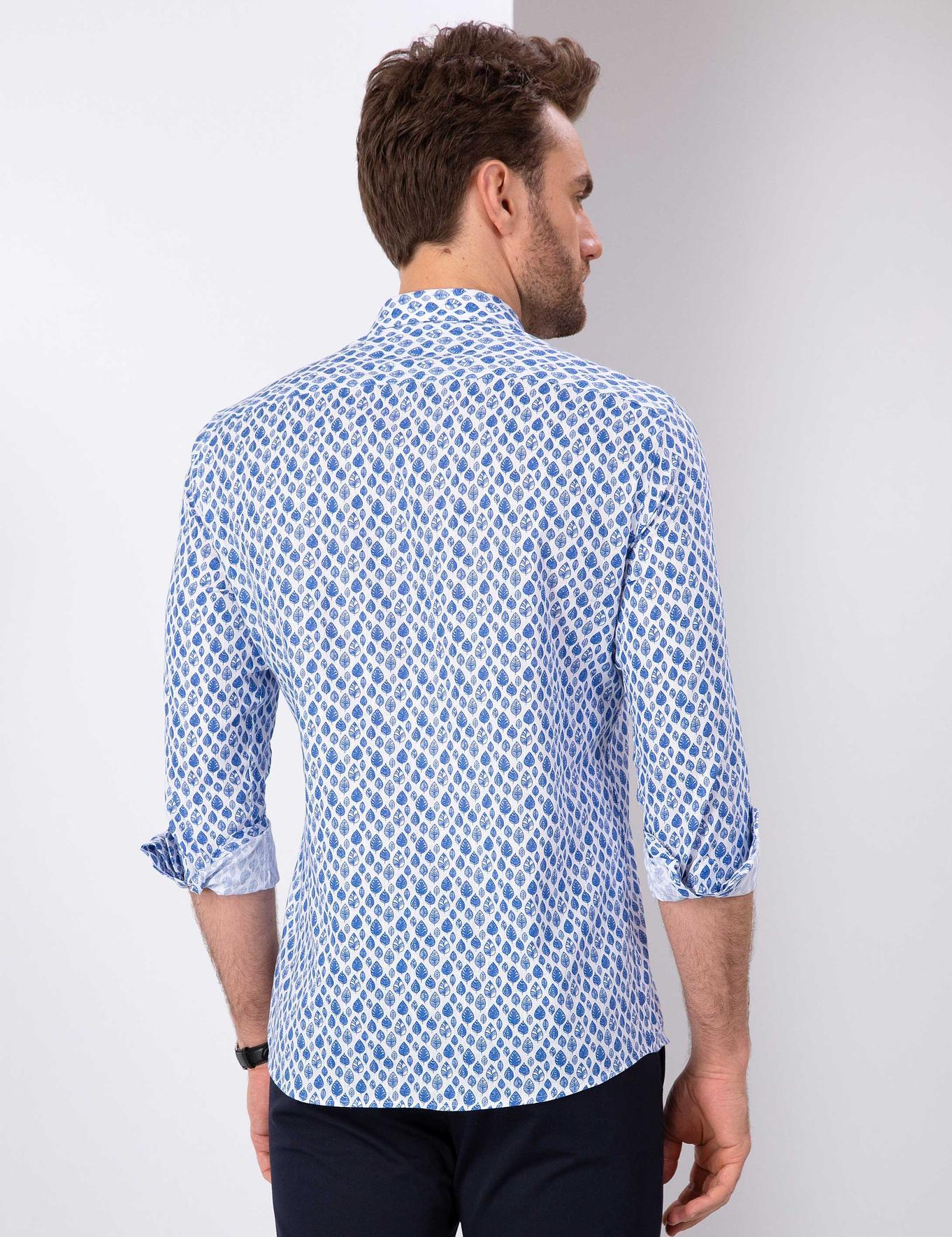 Saks Mavi Slim Fit Gömlek